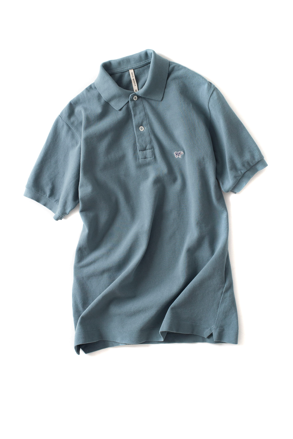 Scye Basics : Cotton Pique Polo Shirt (Surf Blue)