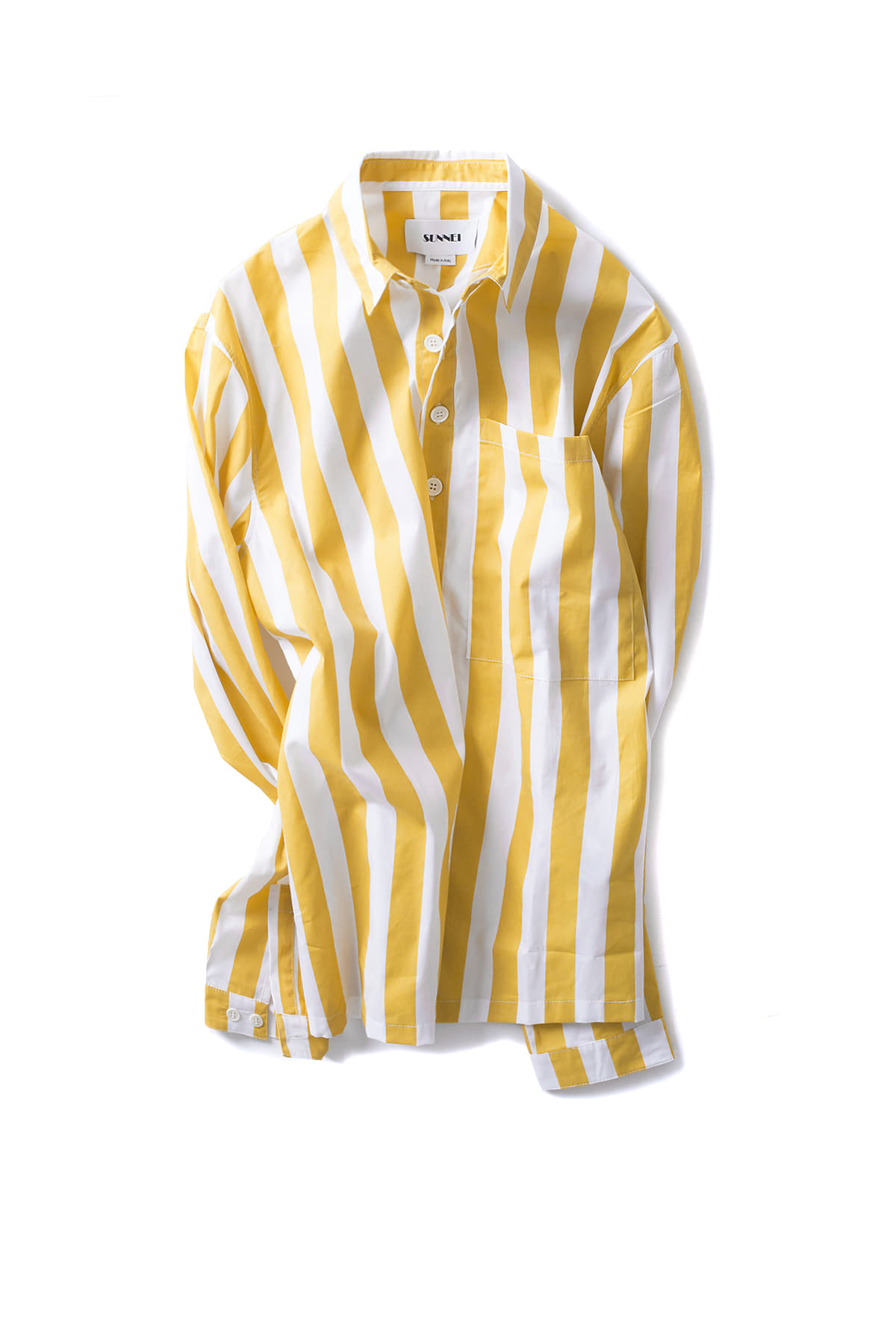 SUNNEI : Classic Shirt W Pocket (Mango Stripe)