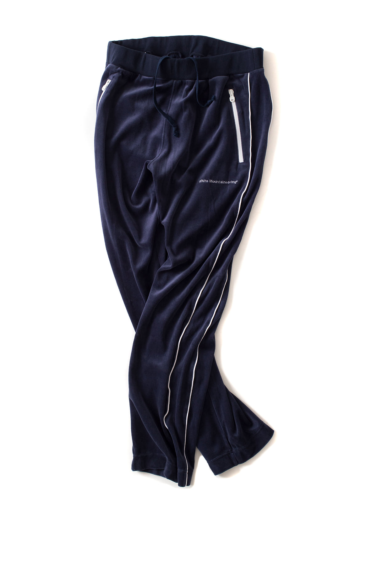 WHITE MOUNTAINEERING : Velour Track Pants (Navy)