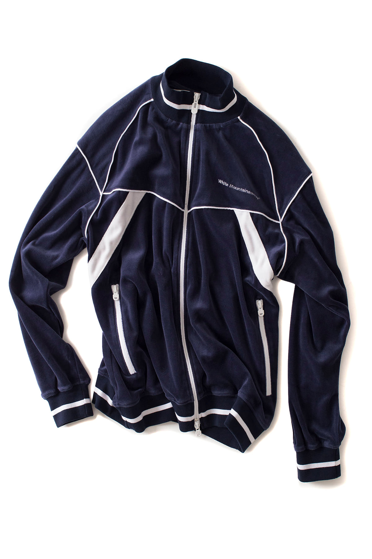 WHITE MOUNTAINEERING : Velour Track Top (Navy)