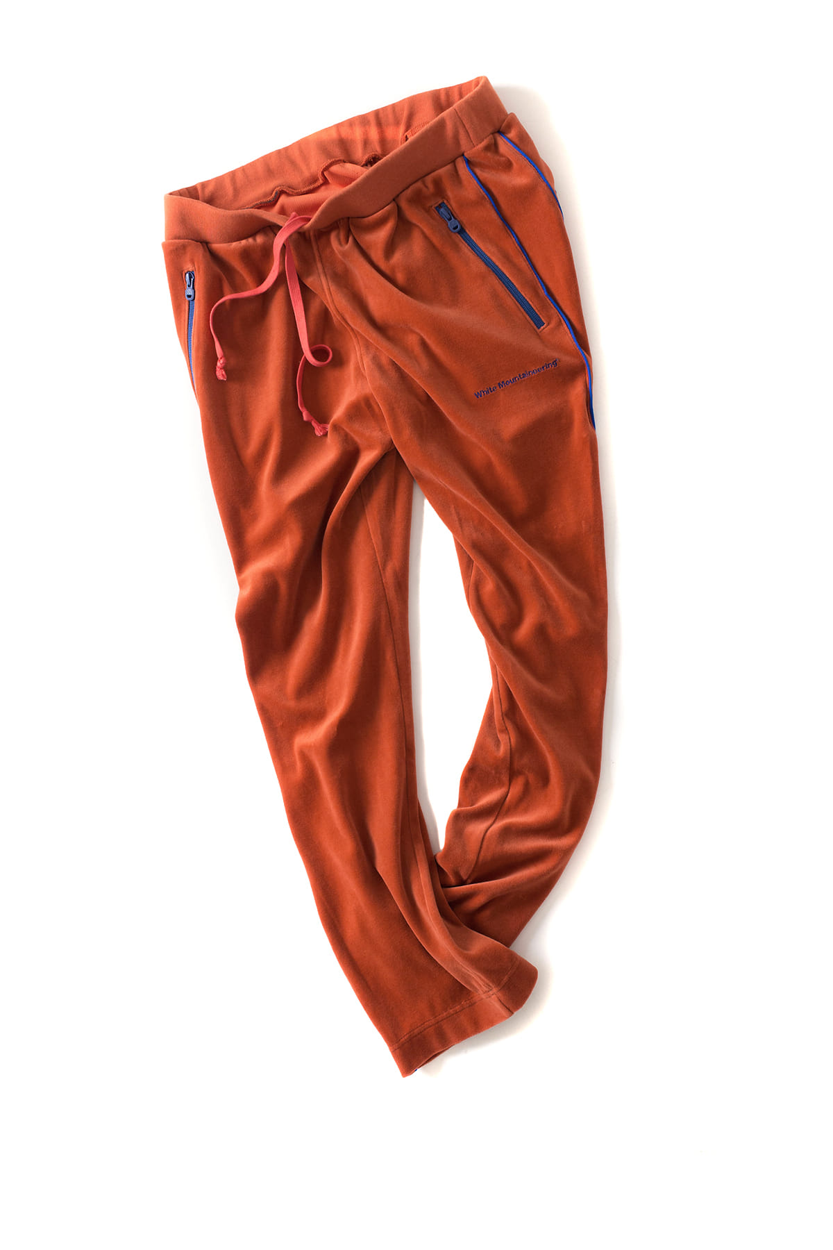 WHITE MOUNTAINEERING : Velour Track Pants (Orange)