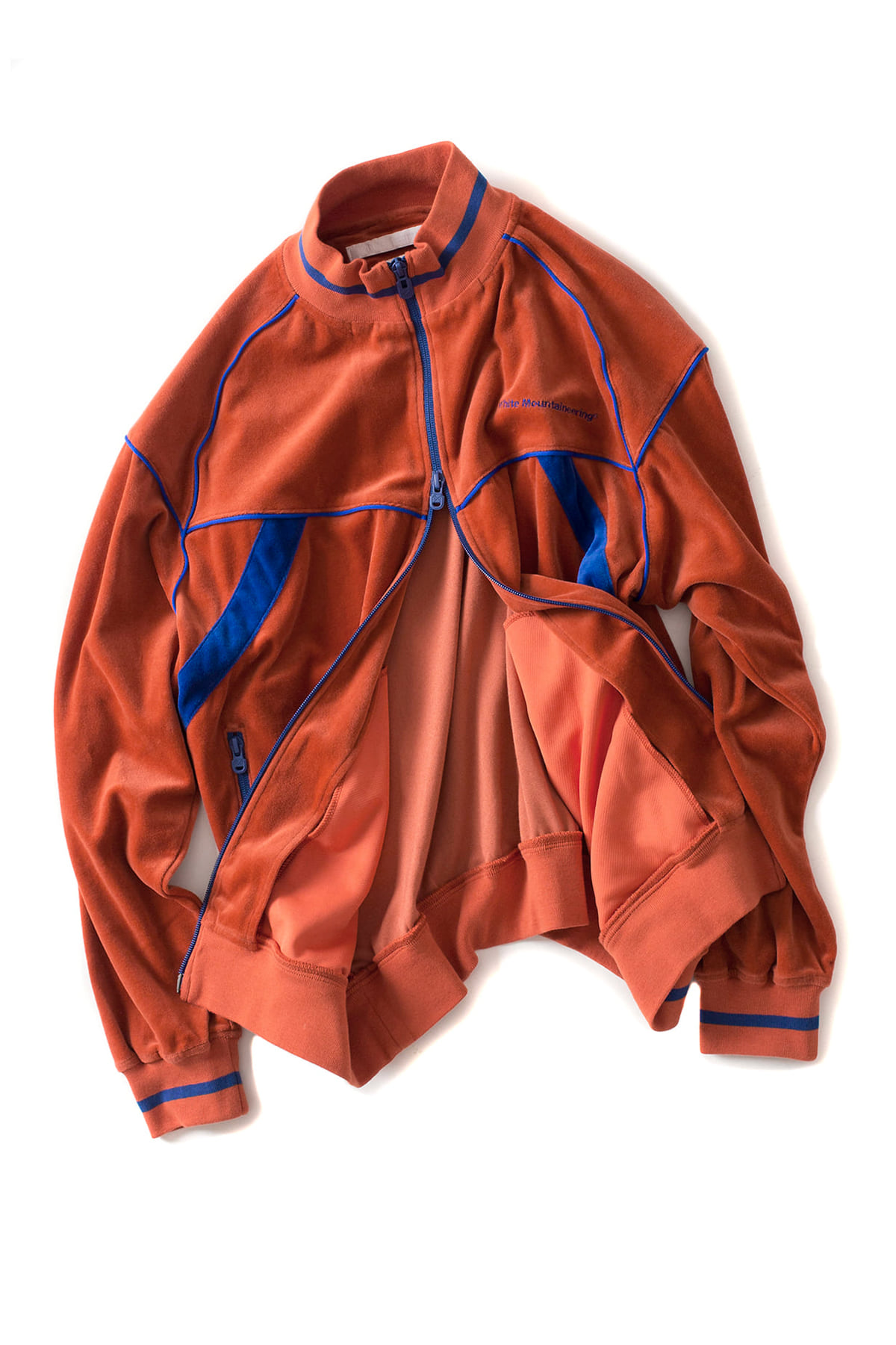 WHITE MOUNTAINEERING : Velour Track Top (Orange)
