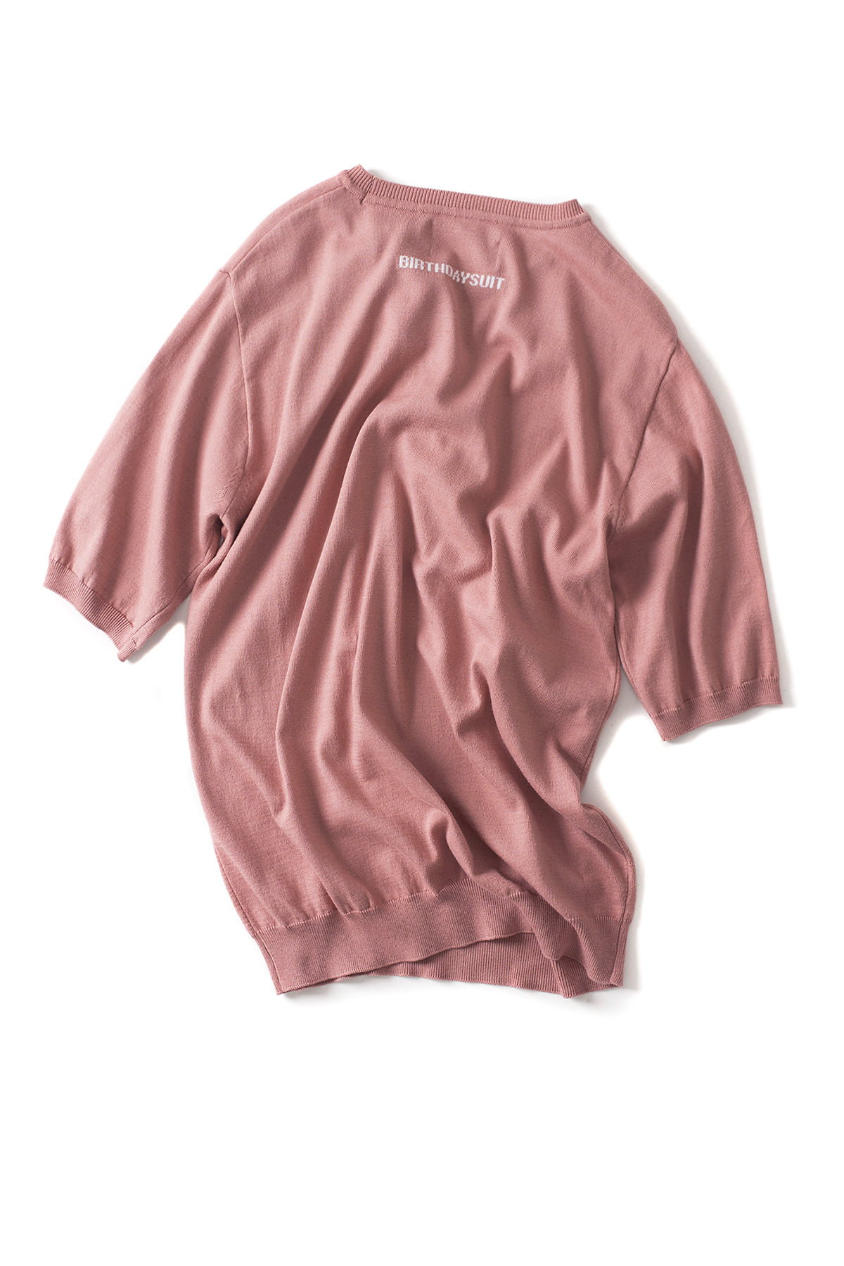 BIRTHDAYSUIT : Back Logo Modal R.Neck Knit (L.Pink)