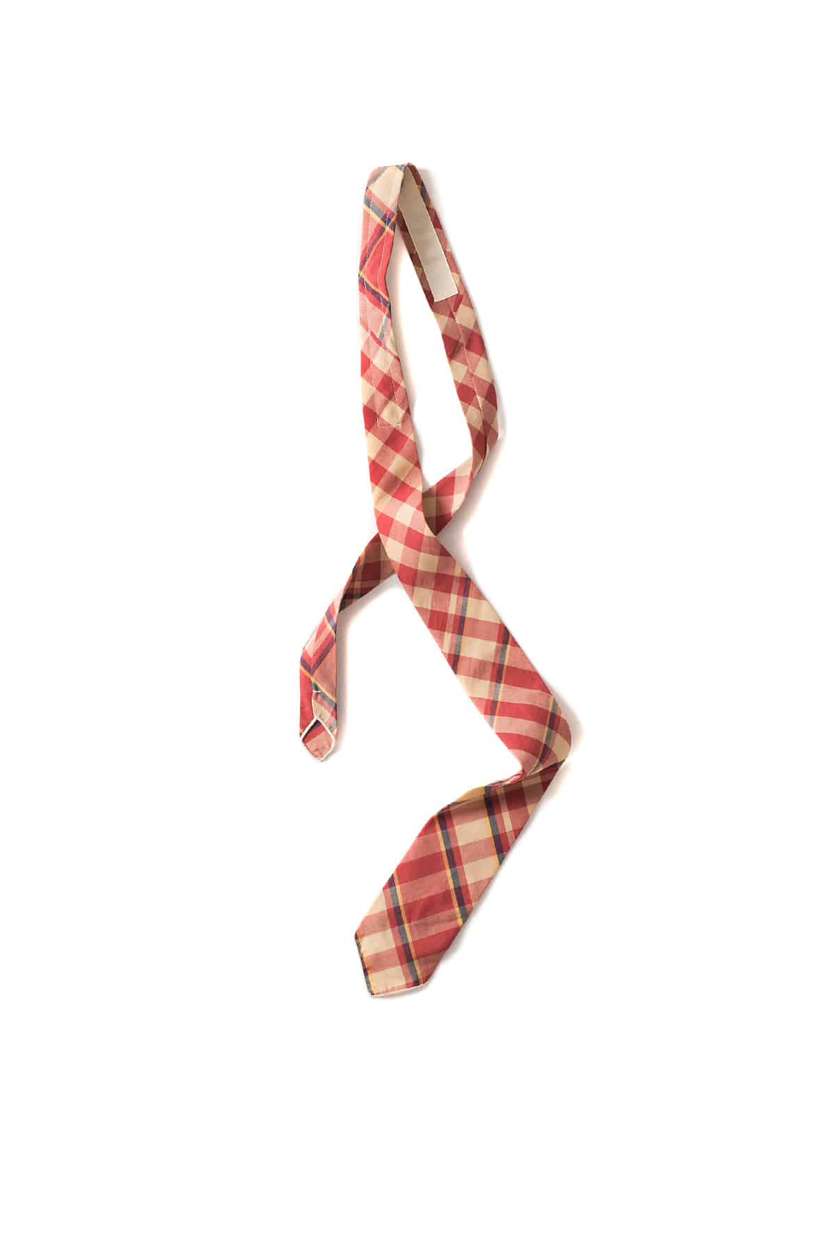 Engineered Garments : Neck Tie (Orange/Yellow/Navy Big Plaid Madras)