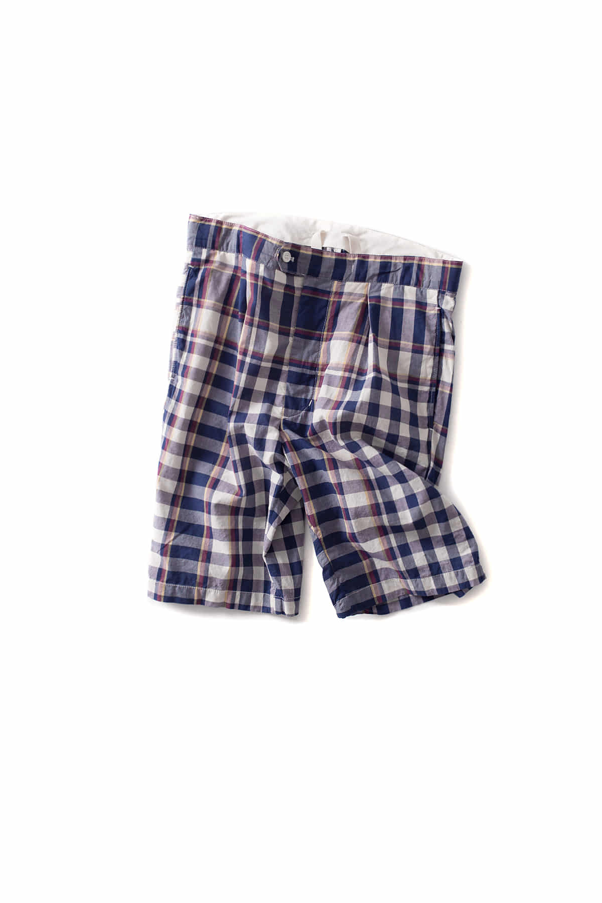 Engineered Garments : Sunset Short (Navy/Red/Yellow Big Plaid Madras)