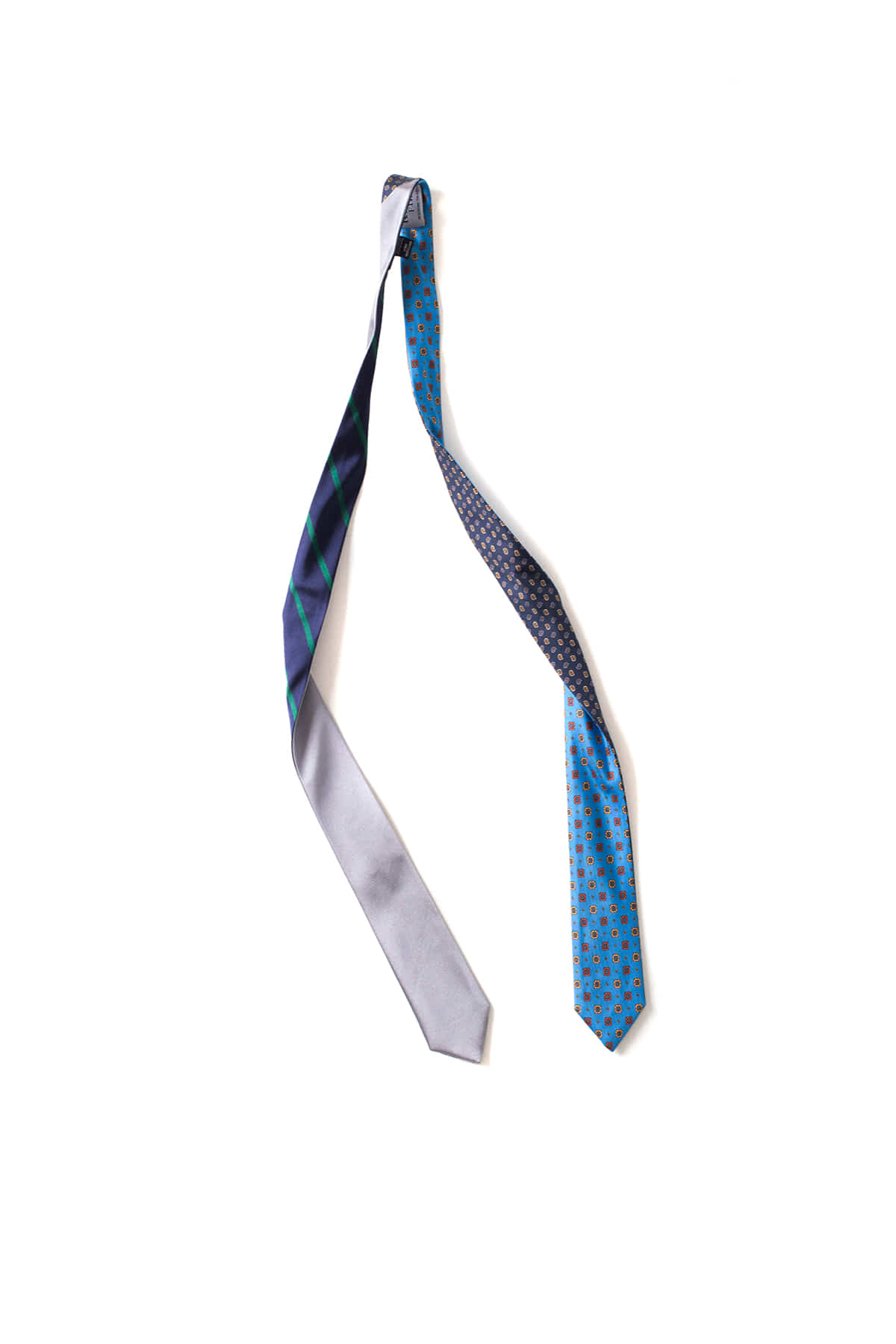 Kenneth Field : 4 Face Tie Small Print (Blue)