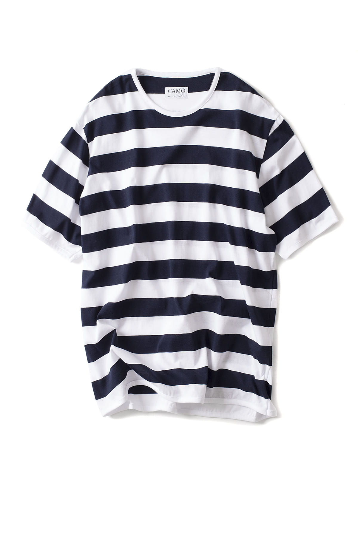 CAMO : Original - New Basic T-Shirt (Striped Jersey White/Navy)