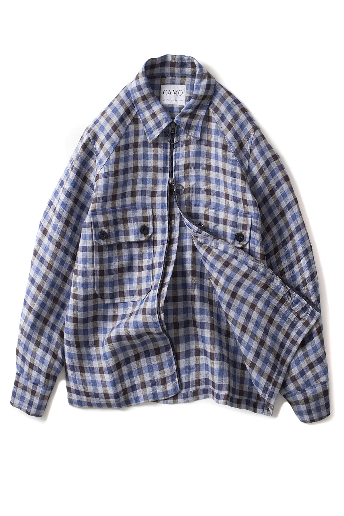 CAMO : Original - JKT Shirt (Linen Check Navy/Avio)