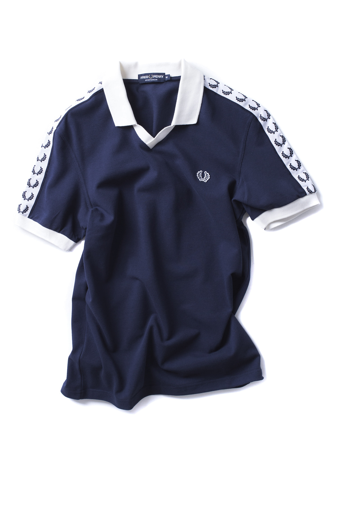 FRED PERRY : Taped Pique Shirt (Carbon Blue)