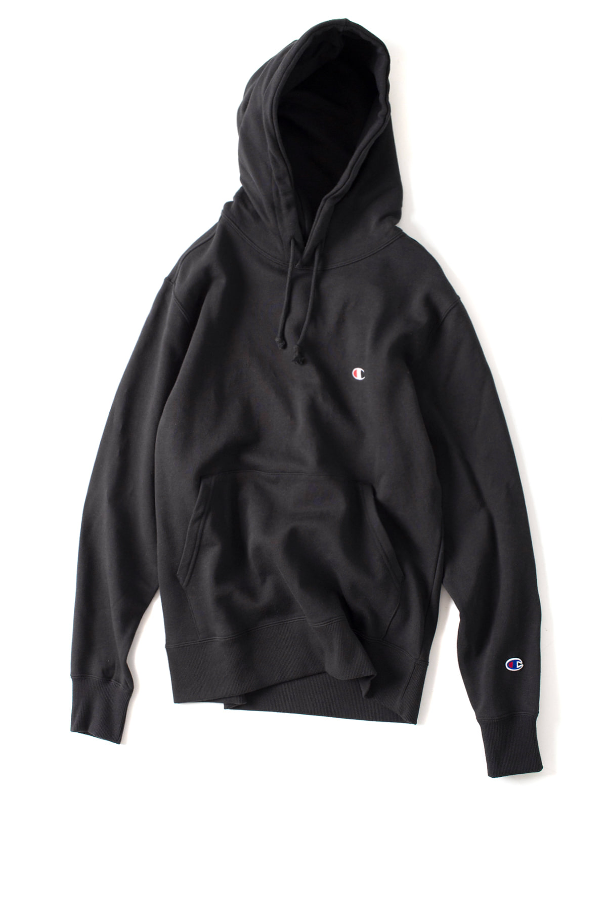 Champion : Basic Pullover Hooded SweatShirt (Black)