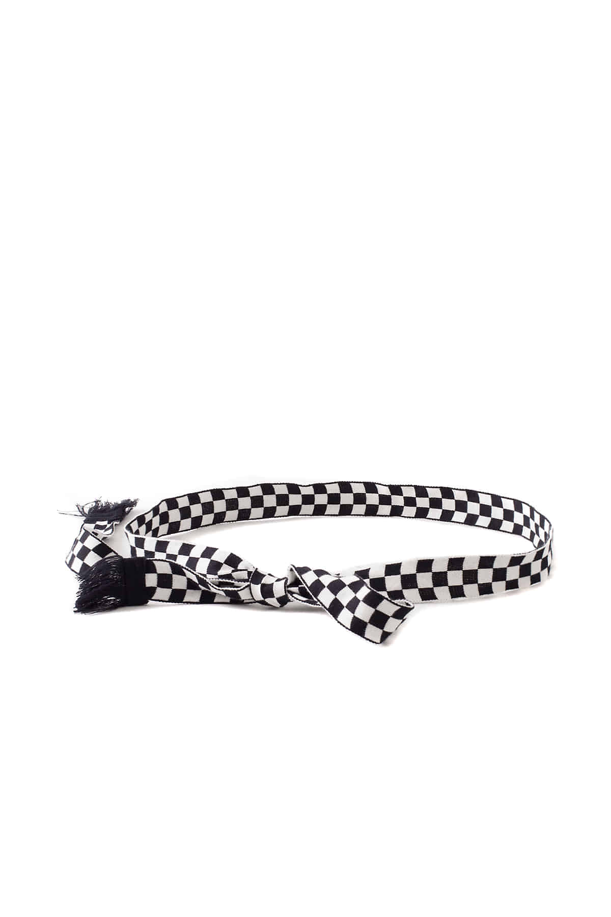 Infielder Design : Checker Obi Belt (Black)