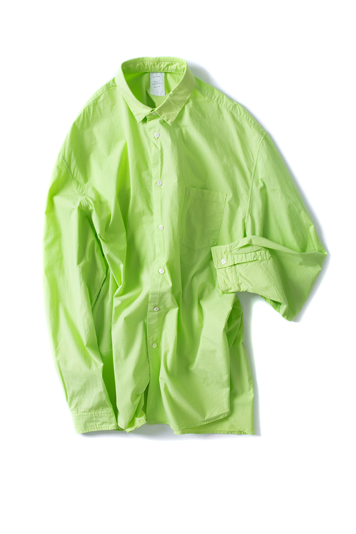 Name : Garment Dyed Loose Fit Shirt (Line Green)