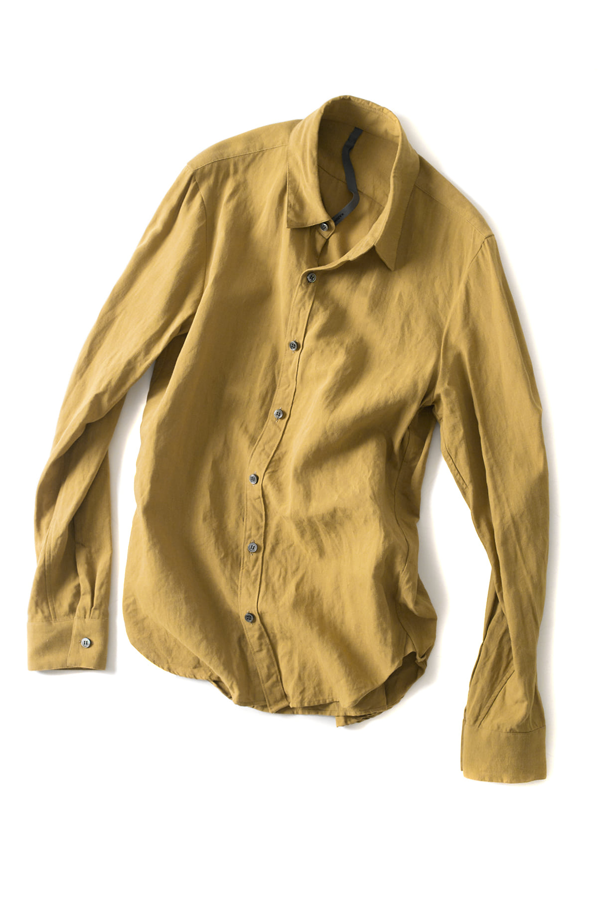 ATTACHMENT / KAZUYUKI KUMAGAI : Regular Collar Shirt (Yellow)