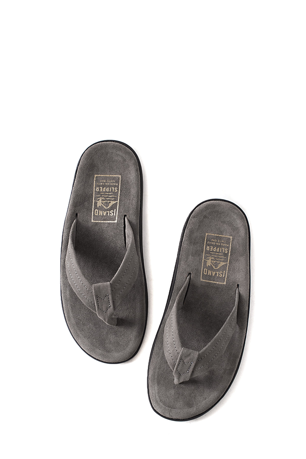 ISLAND SLIPPER : PB203 (Charcoal Suede)