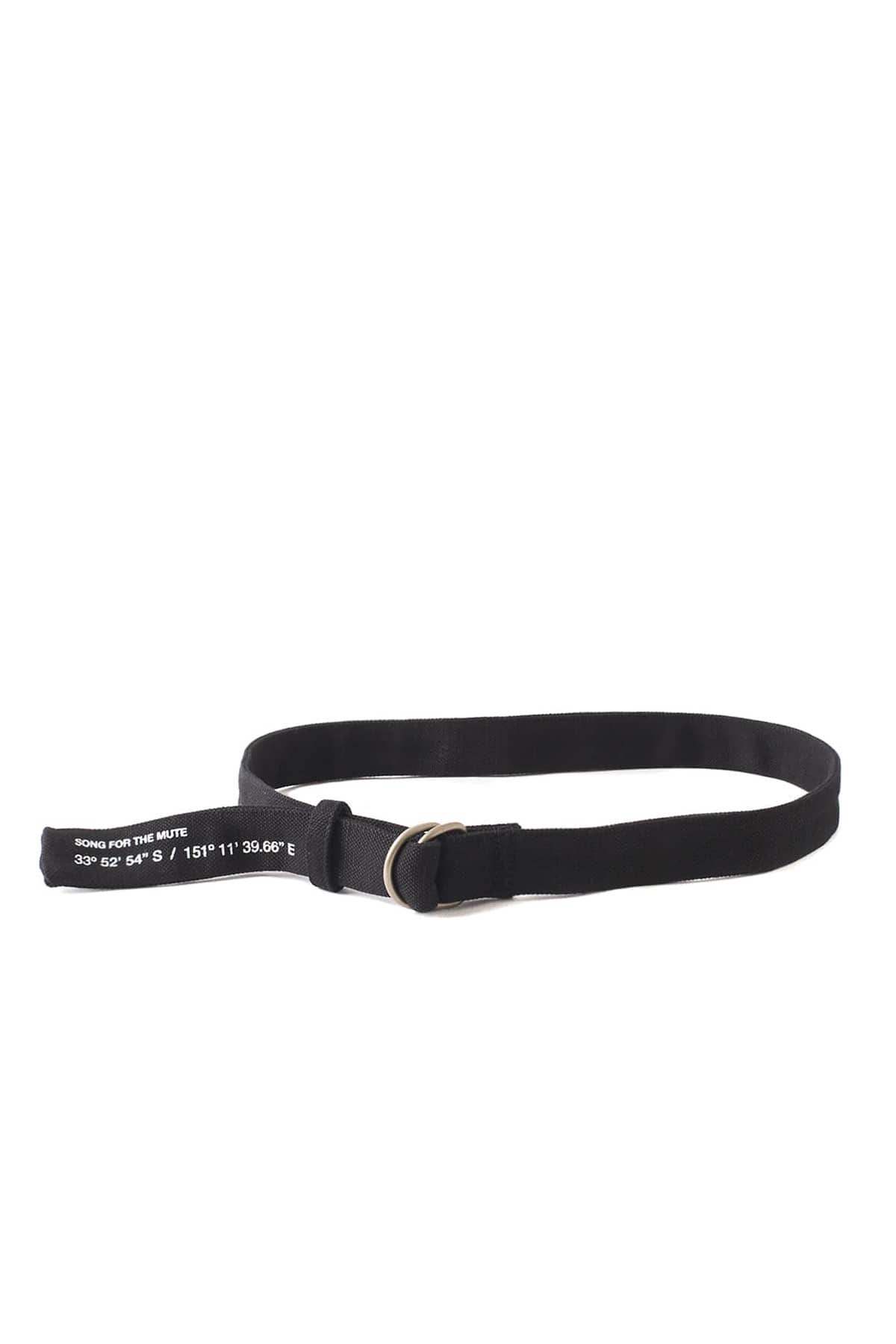 Song for the Mute : White Cordinates Printed Belt (Black)