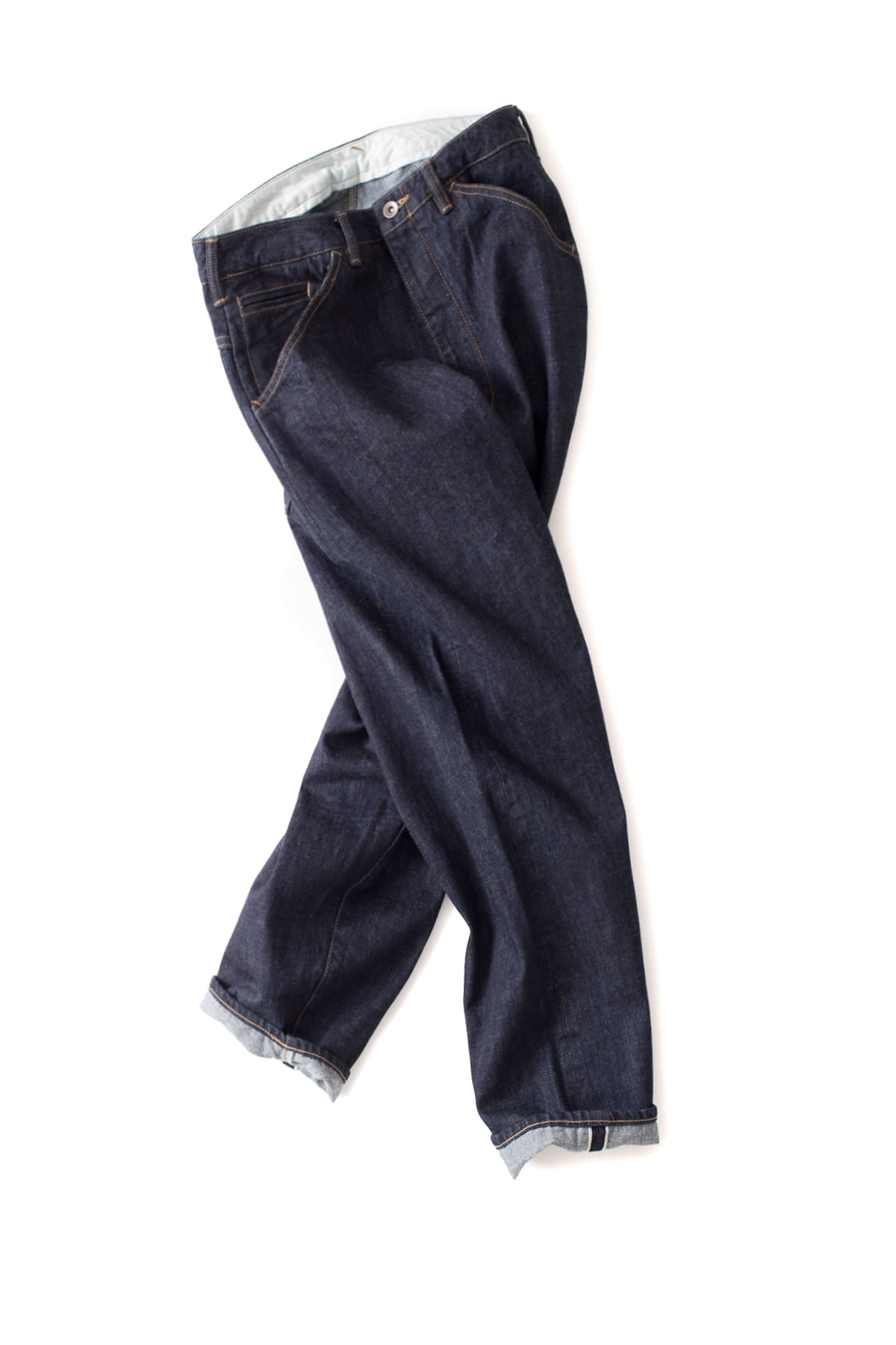 bukht : Big Denim Pants Short (OW Indigo)
