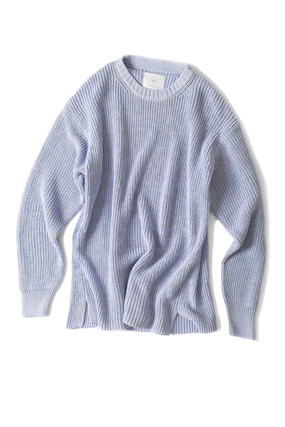 bukht : Rib Knit (Blue Grey)