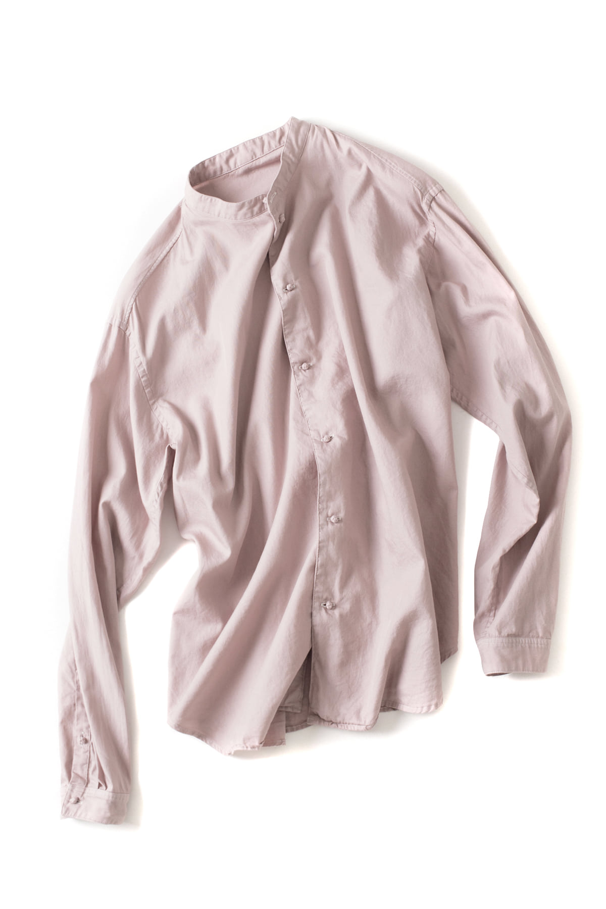 bukht : New Band Collar Shirt (Pink)