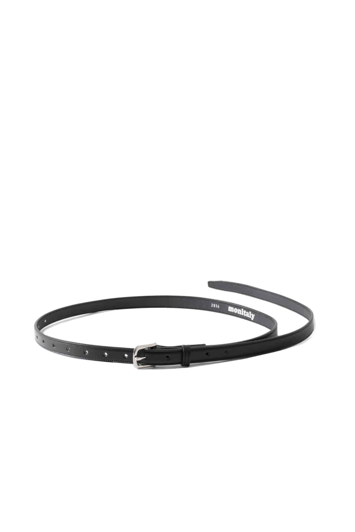 MONITALY : Extra Long Leather Belt (Black)