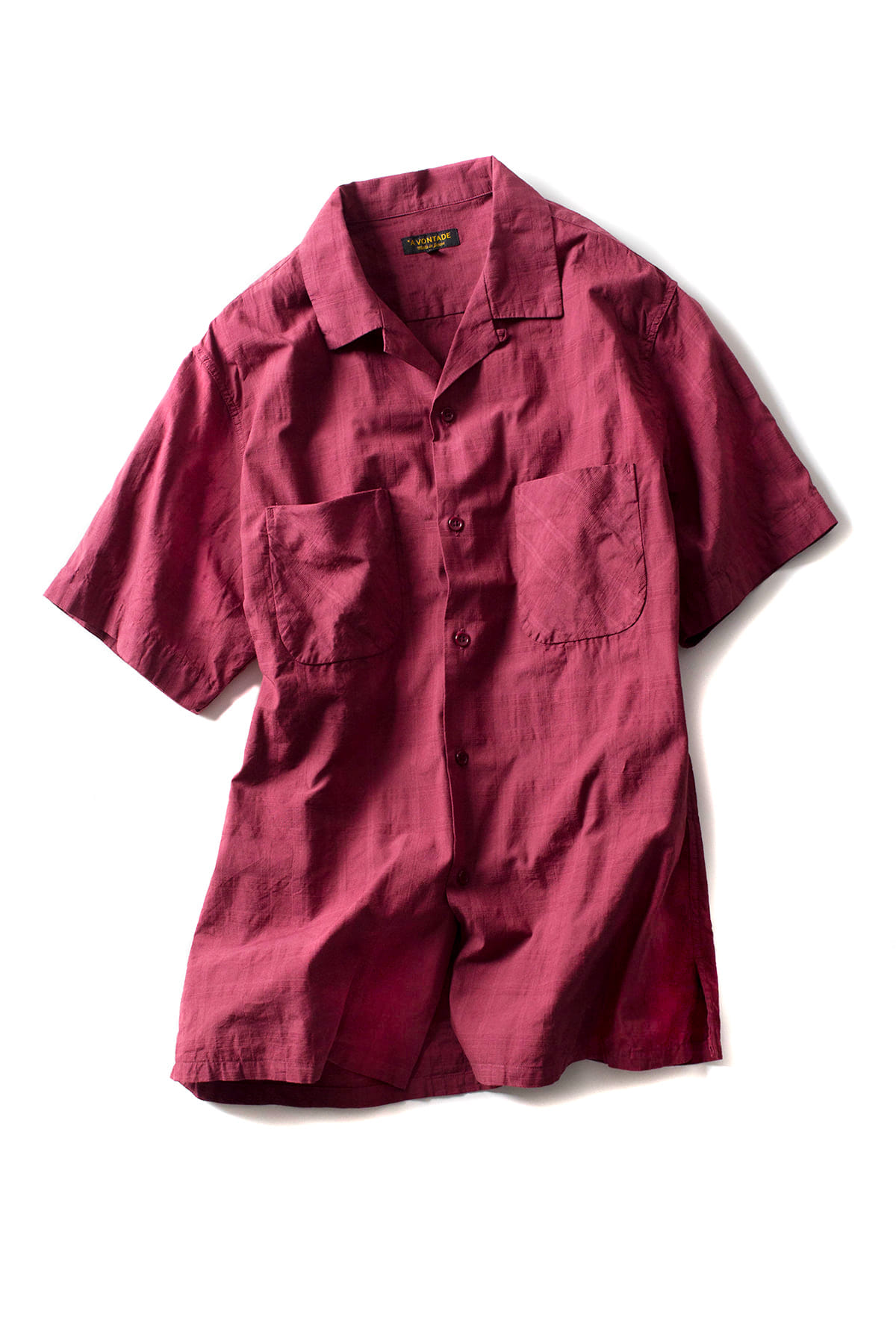 A vontade : Dobby Open Shirts (Bordeaux)