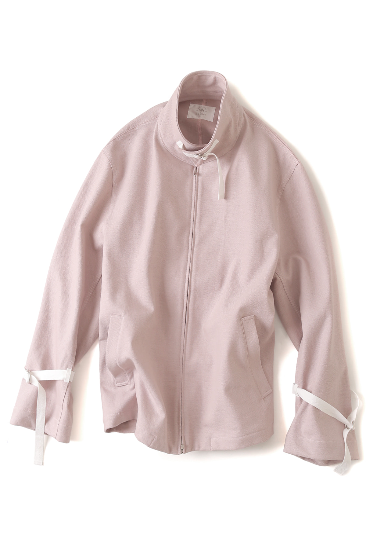 bukht : Bulky Yarn Zip Blouson (Light Pink)