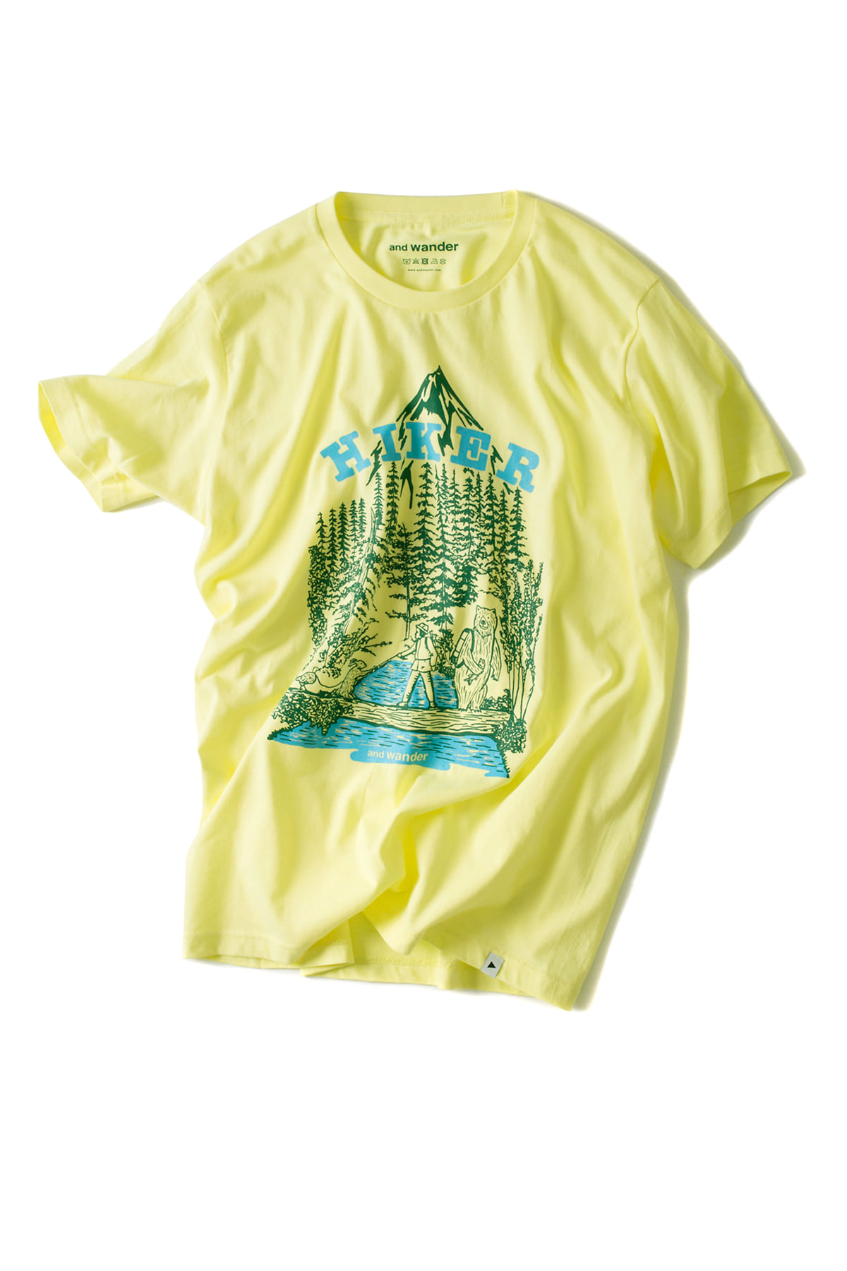 and wander : Hiker T-Shirt (Yellow)