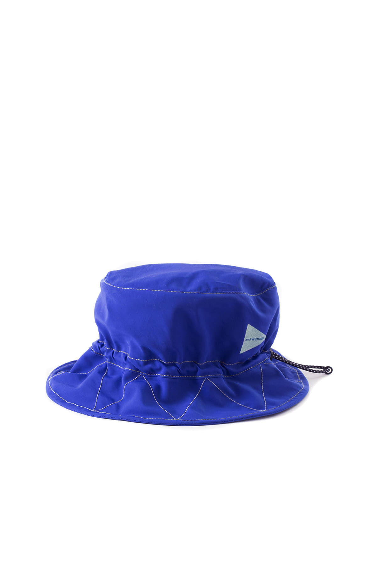 and wander : Cotton Nylon Hat (Blue)