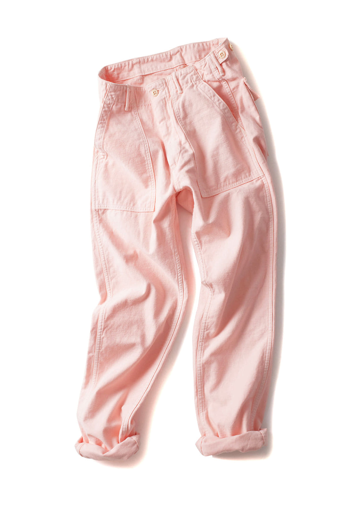 orSlow : Slim Fit Fatigue Pants (Pink)