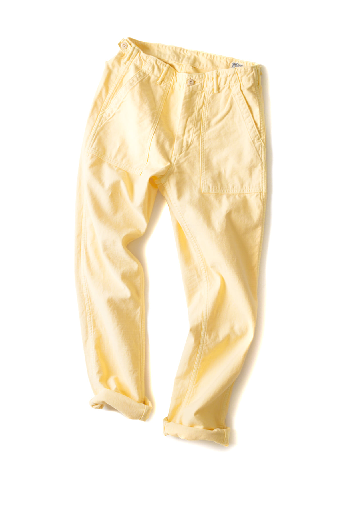 orSlow : Slim Fit Fatigue Pants (Yellow)