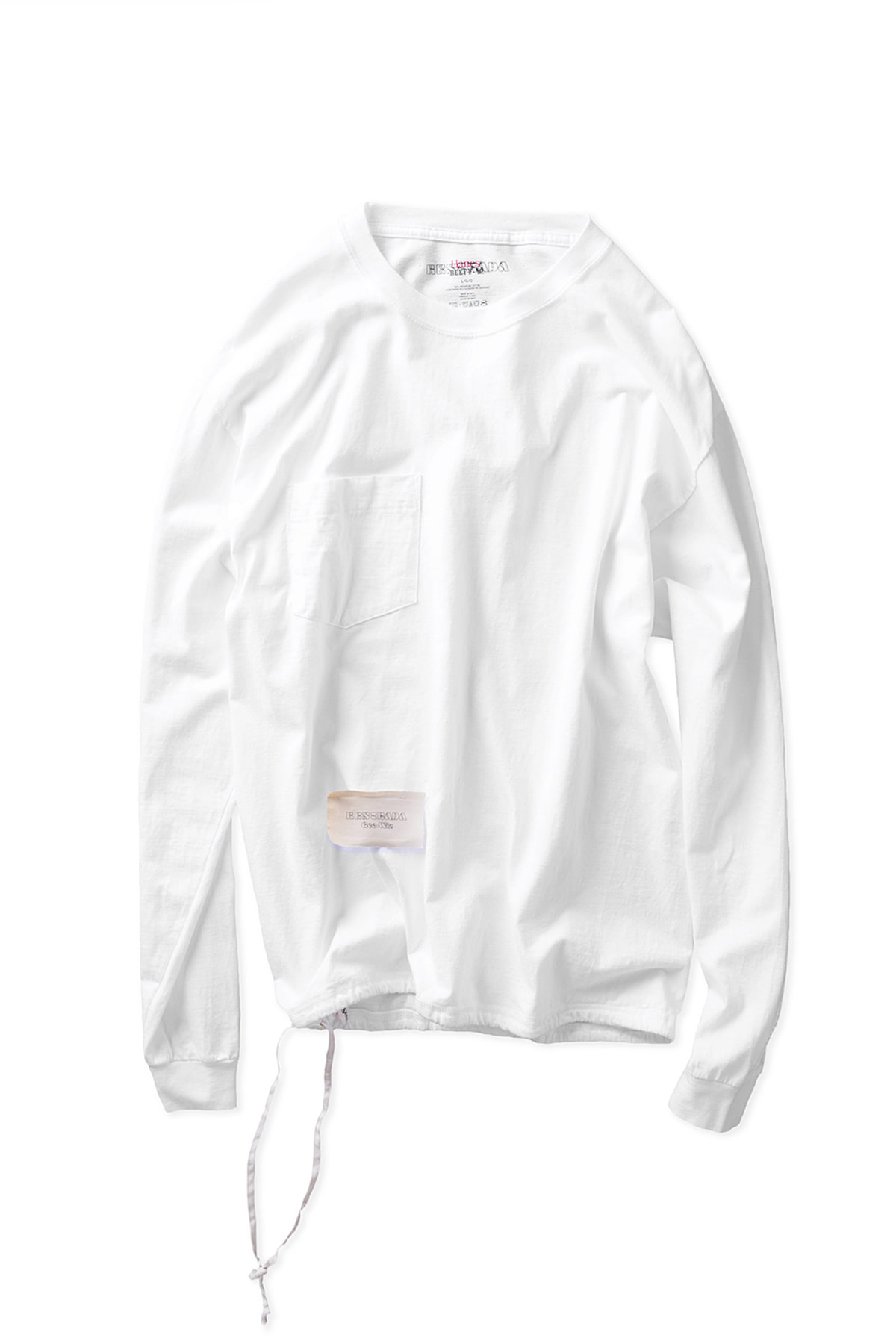 HESTRADA : Gee Wiz L/S Switch Pokcet Tee (White)