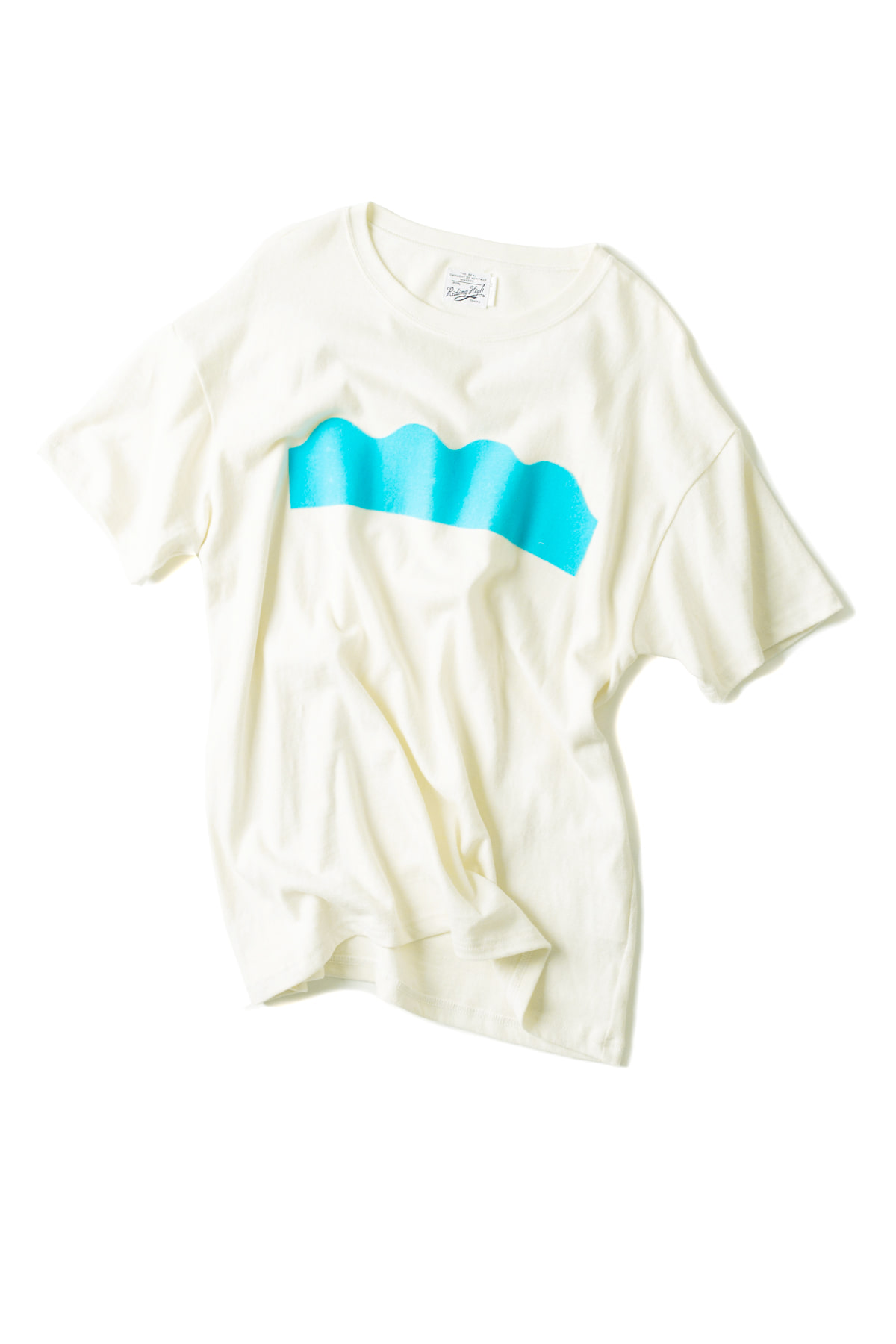 Riding High : Ruff Knit Flocky Tee (Sea)