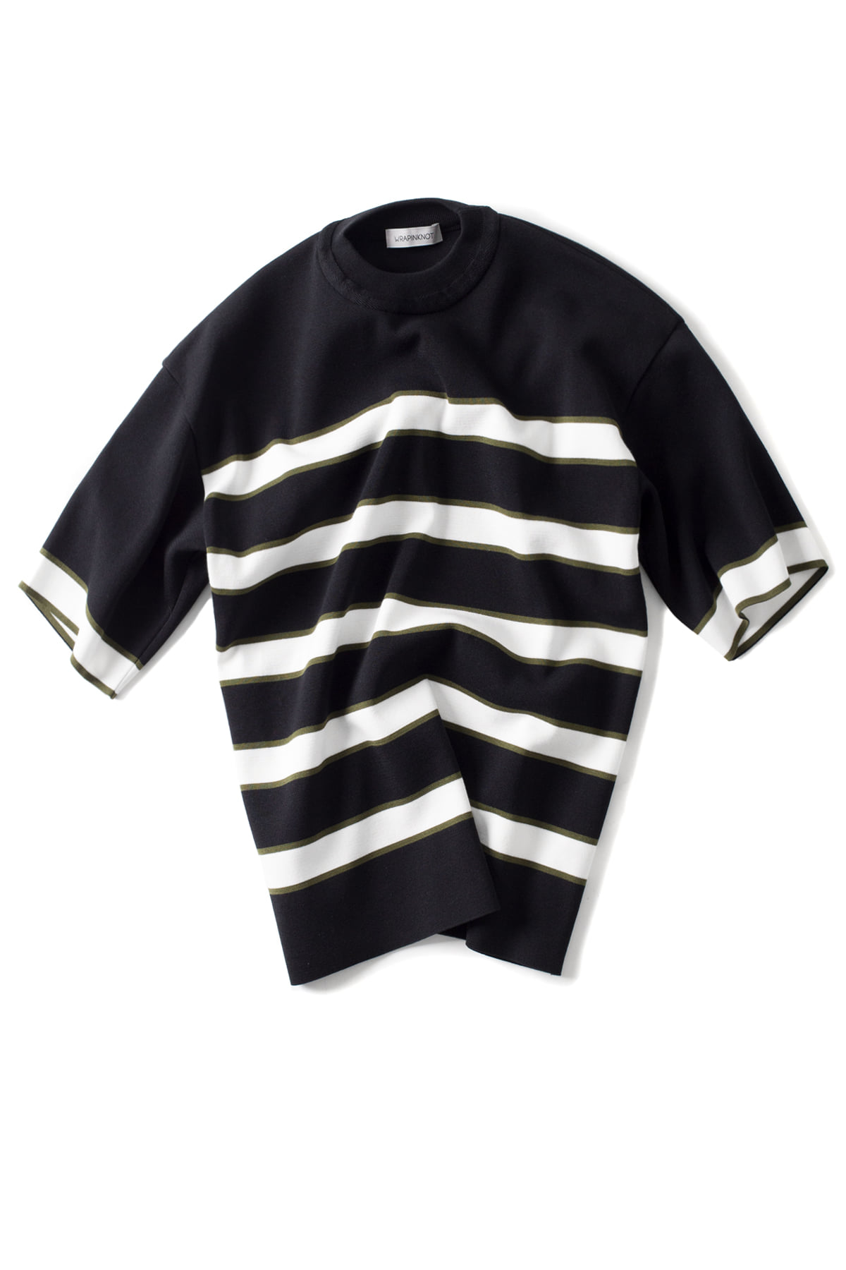WRAPINKNOT : Border H/S Knit (Black)