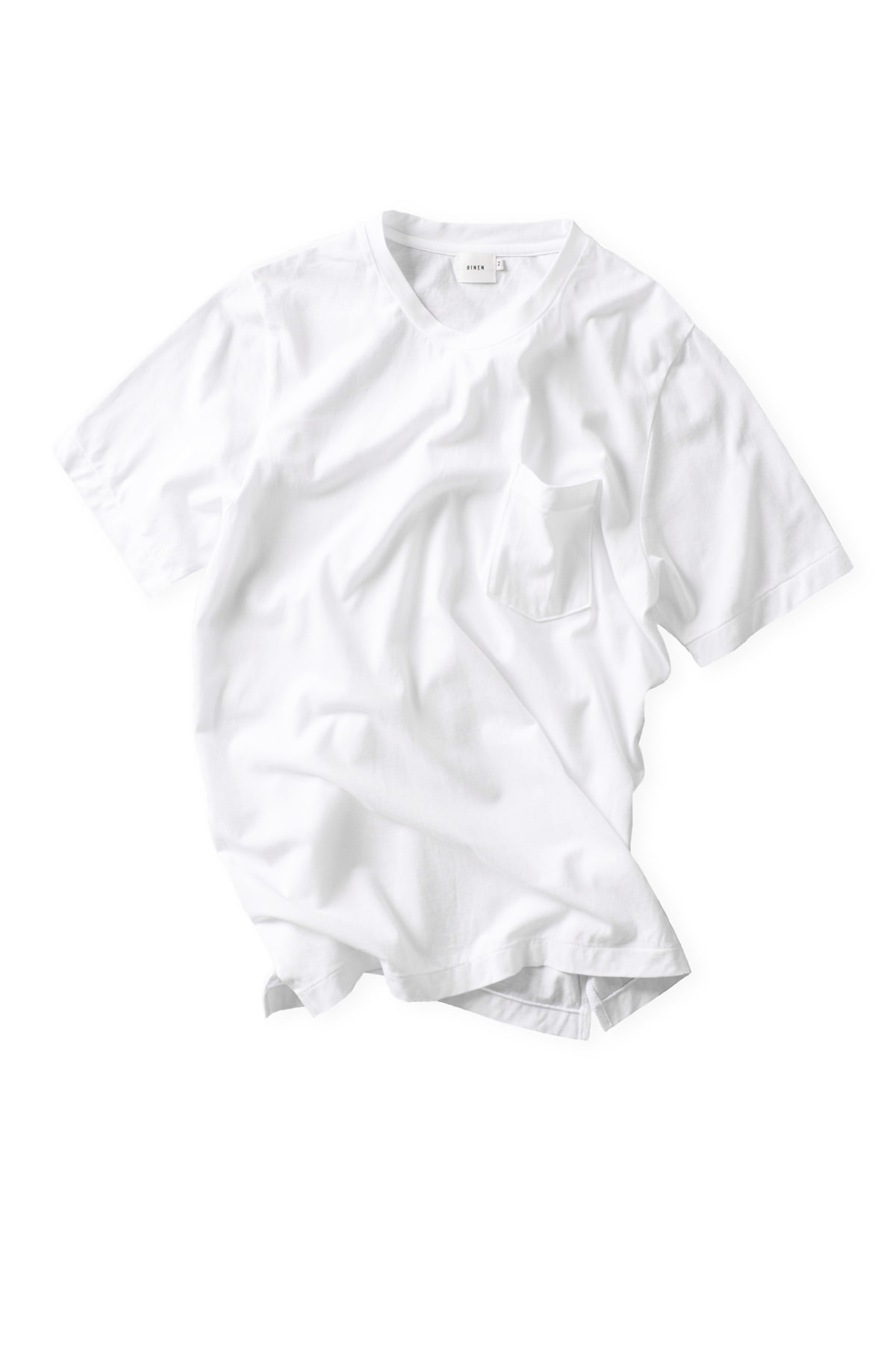 RINEN : Short Sleeved Crewneck 14807 (White)