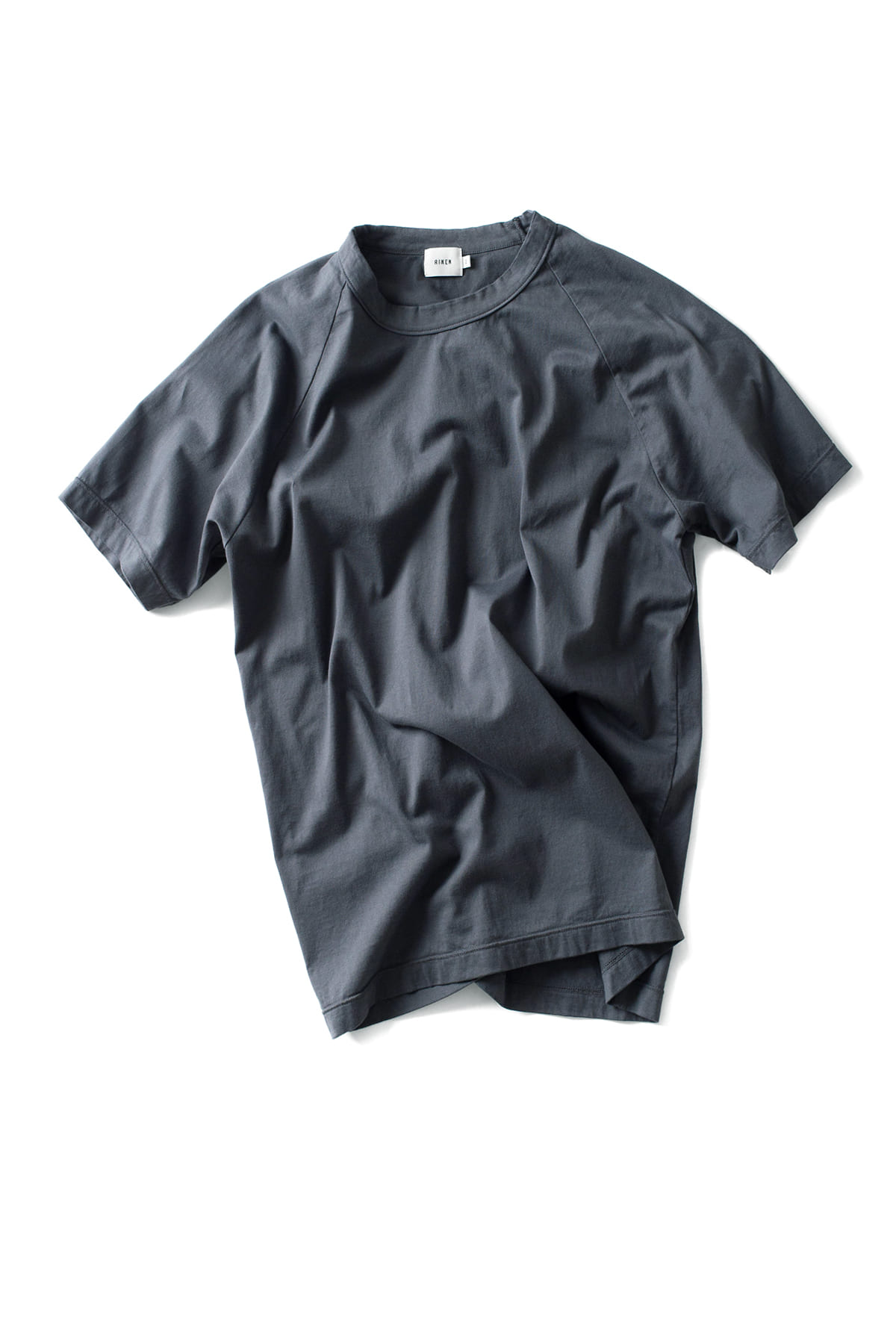 RINEN : Short Sleeved Crewneck 14809 (Charcoal)