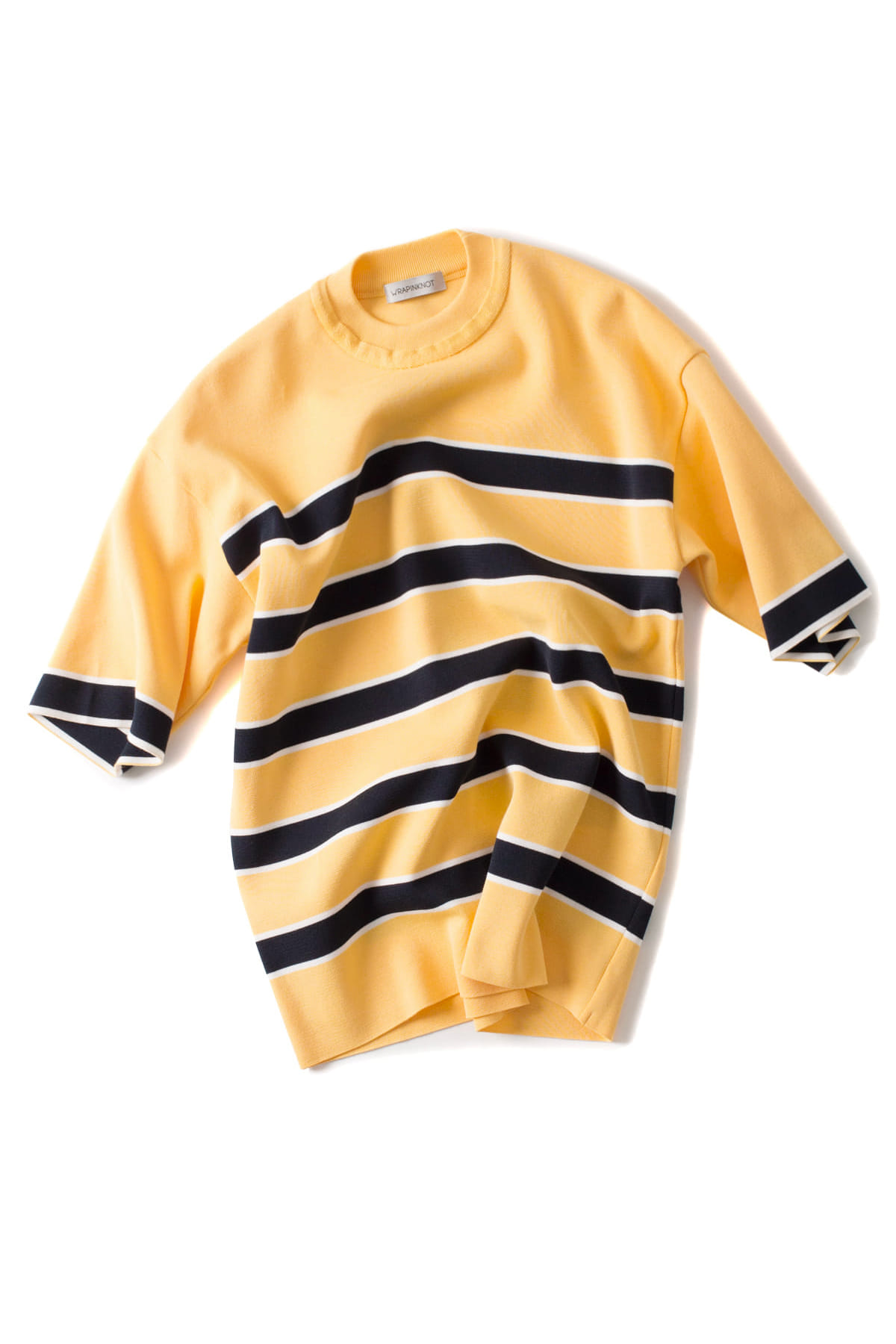 WRAPINKNOT : Border H/S Knit (Yellow)