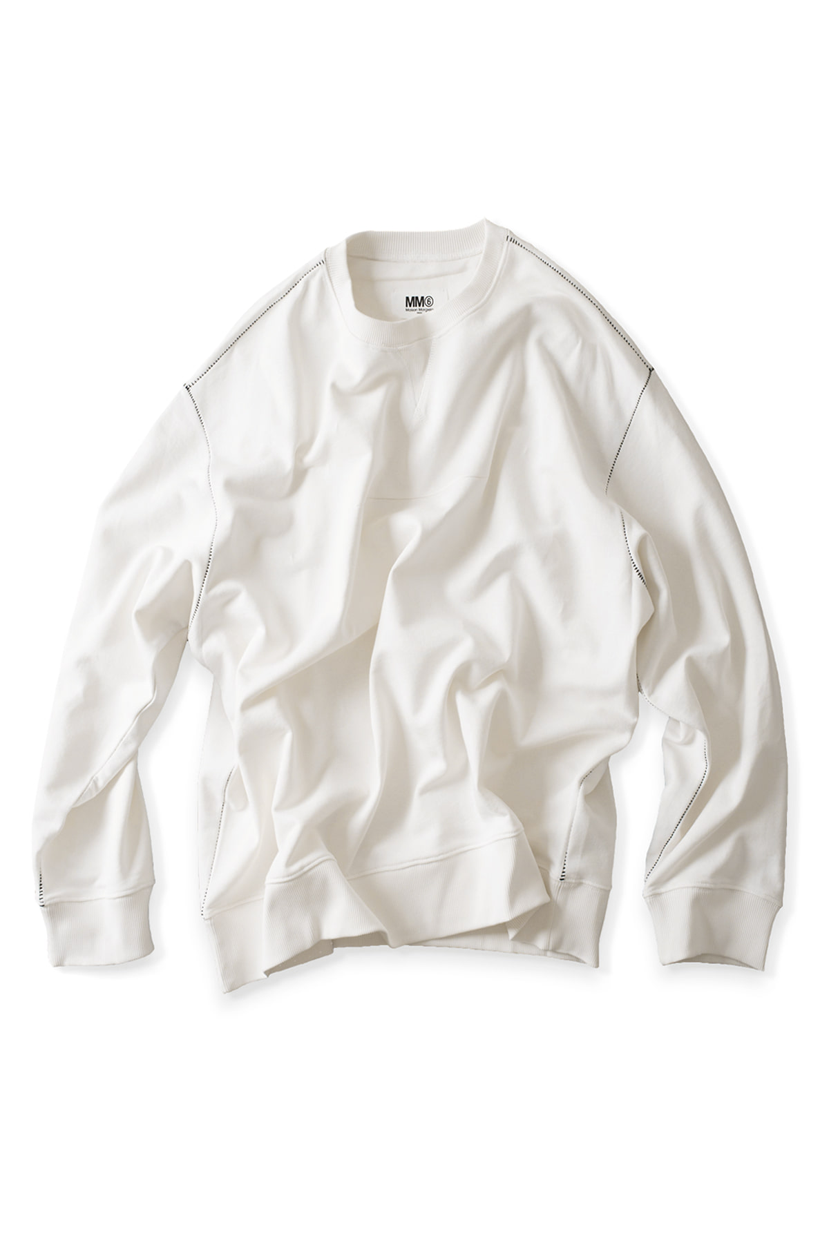 MM6 Maison Margiela : Basic Sweatshirt (White)