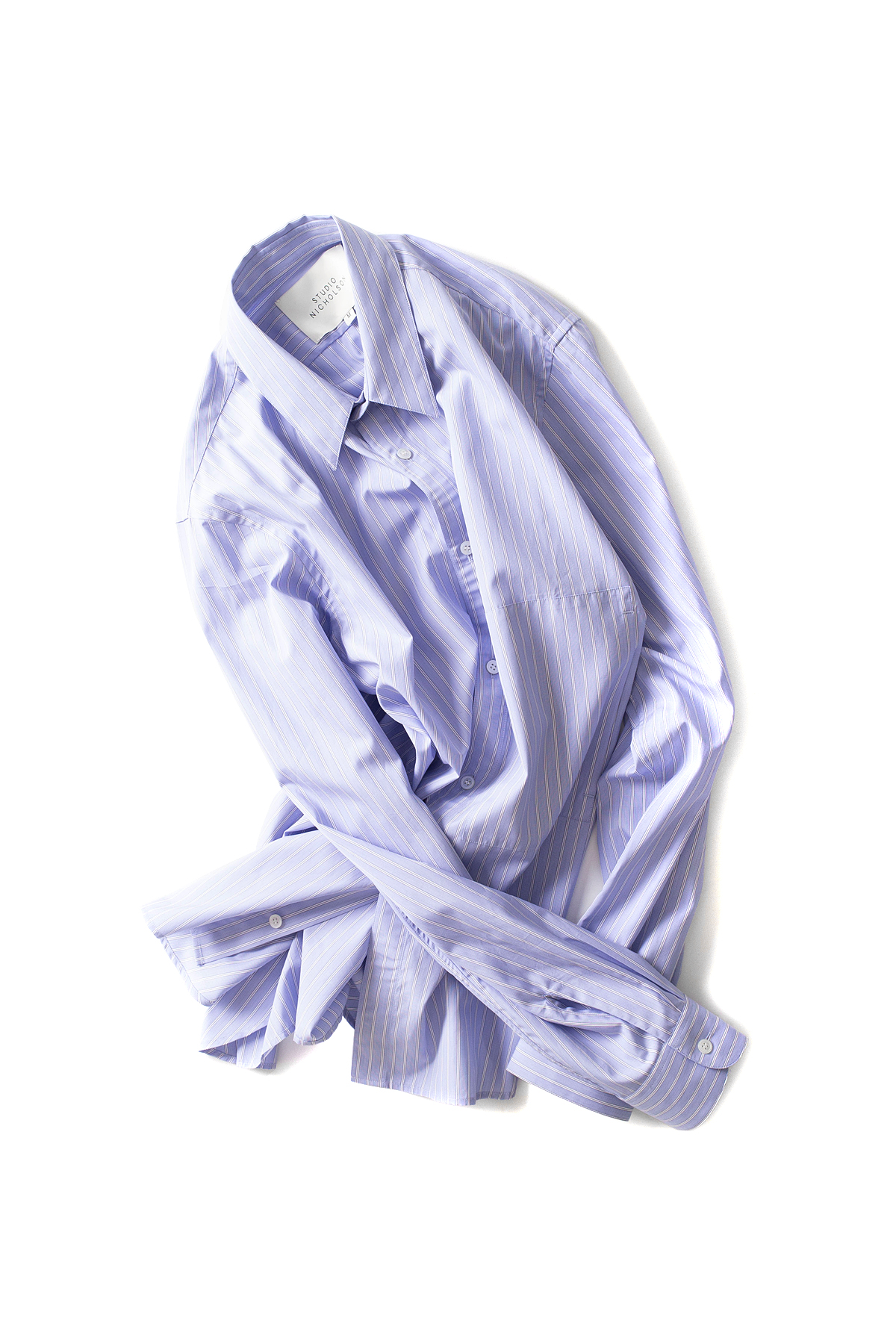 STUDIO NICHOLSON : Side Pocket Shirt (Blue)