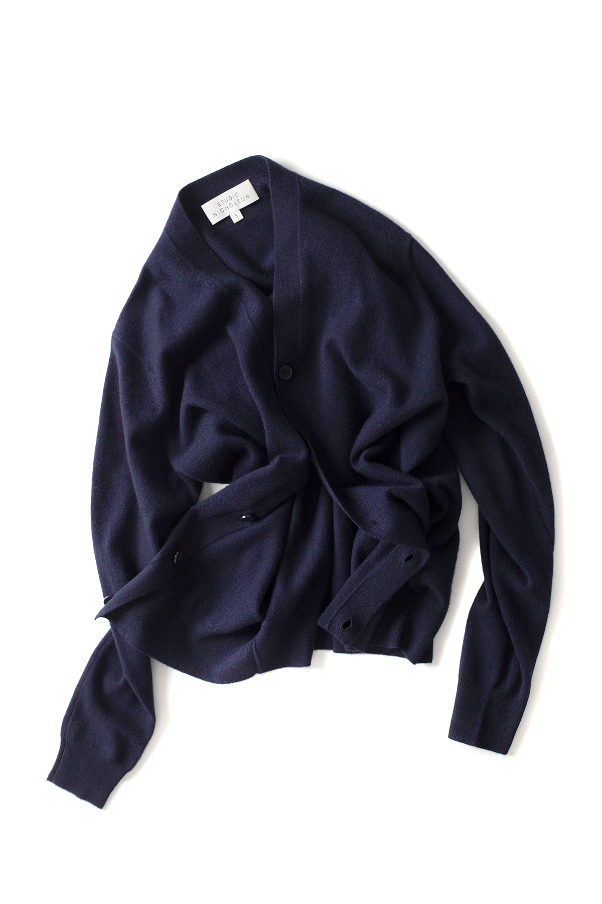 STUDIO NICHOLSON : High Neck Cardigan (Navy)