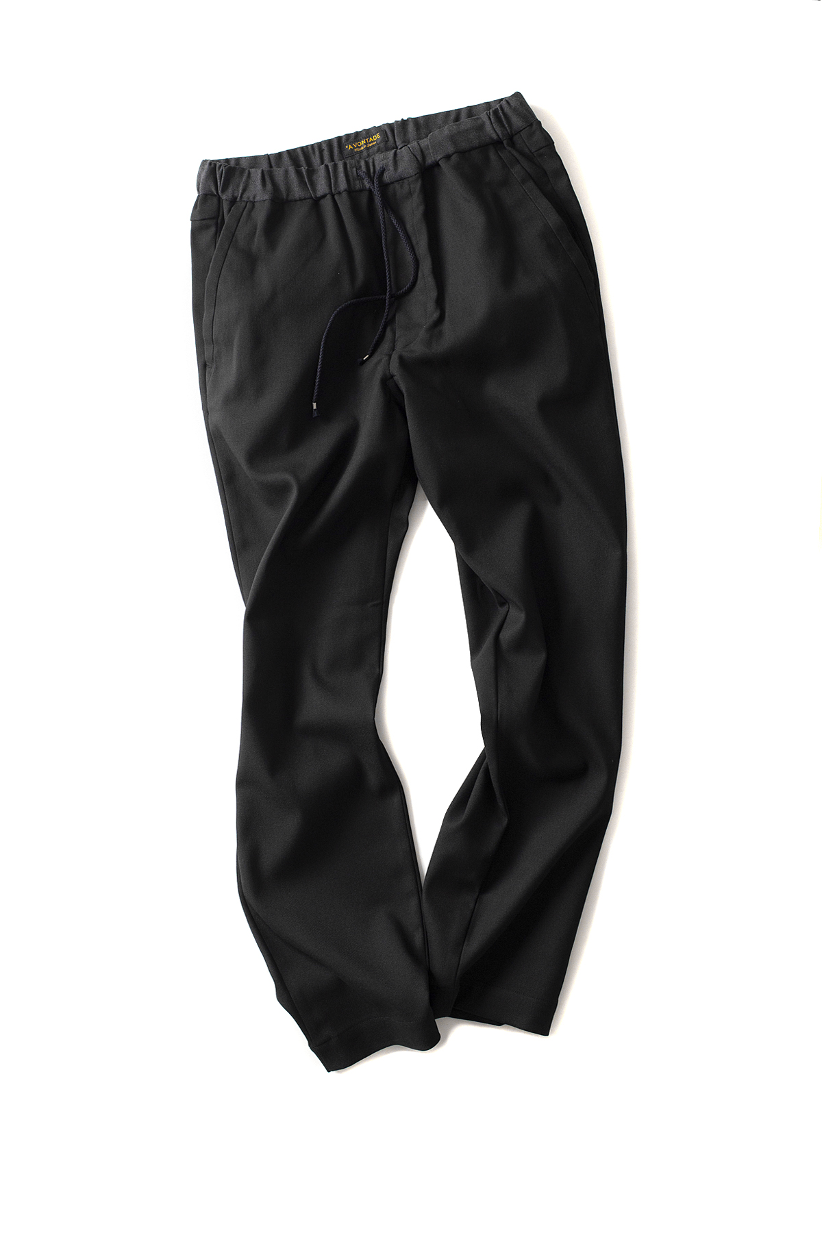 A vontade : Slim Easy Slacks (Black)