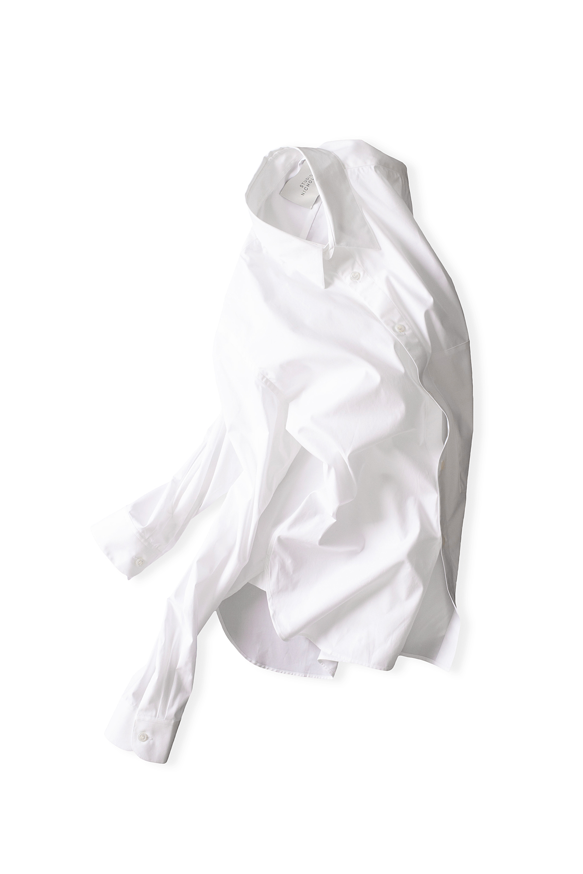STUDIO NICHOLSON : Side Pocket Shirt (White)