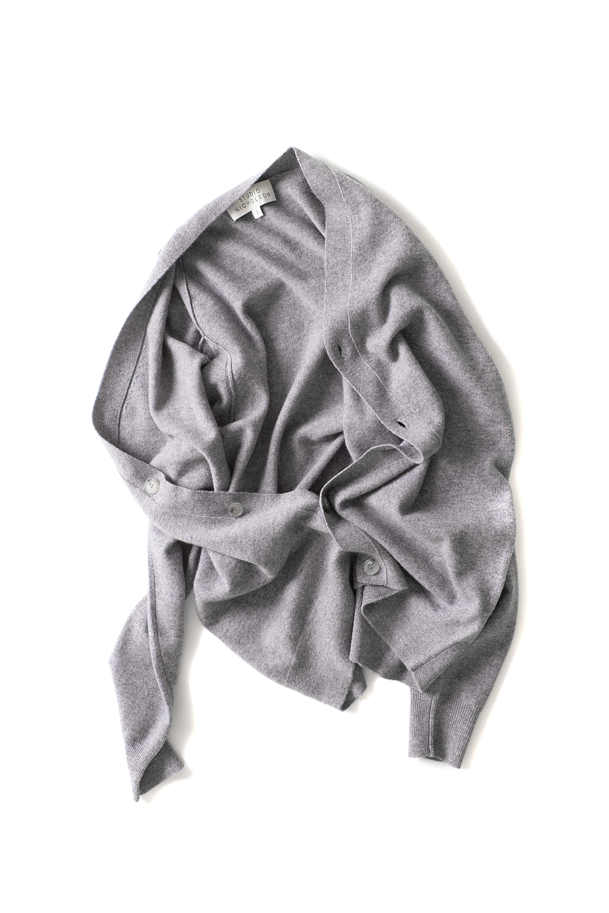 STUDIO NICHOLSON : High Neck Cardigan (Grey)