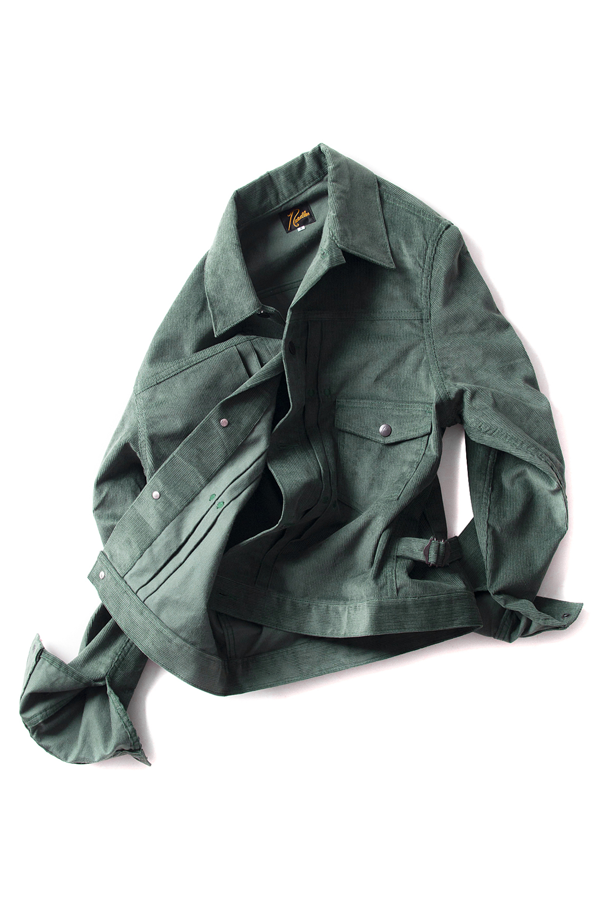 NEEDLES : 13W Corduroy Jean Jacket (Green)