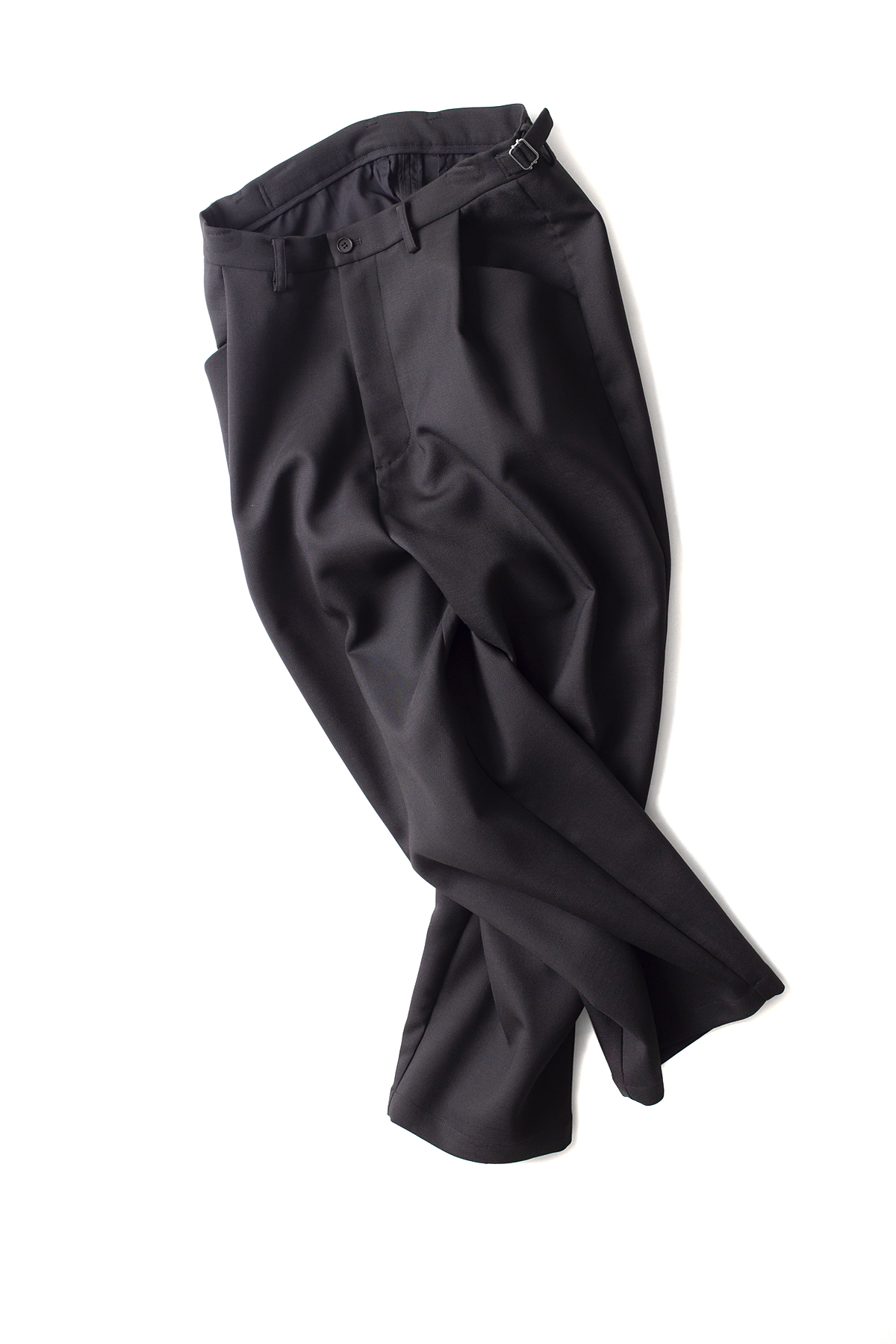 youth : Structured Wide Pants (Black)