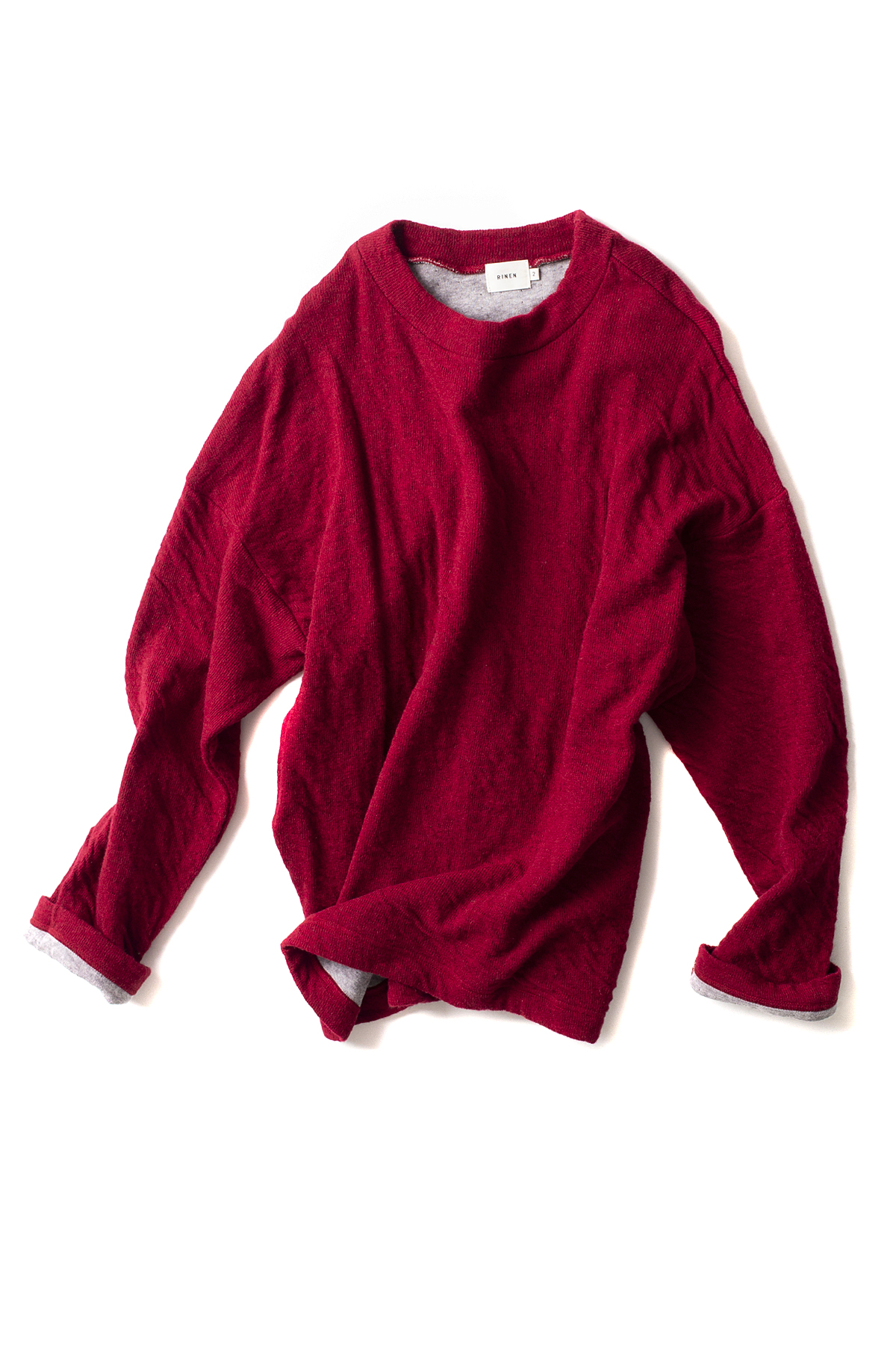 RINEN : Wool Cotton Crewneck 13906 (Red)