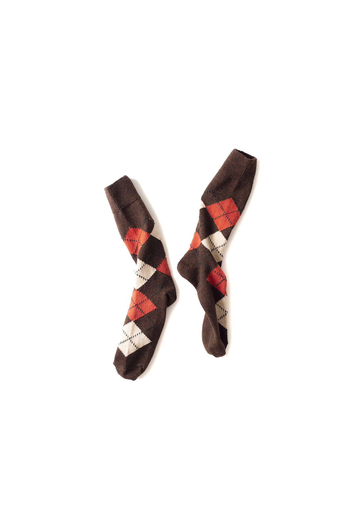 NEEDLES : Jacquard Socks (Brown)
