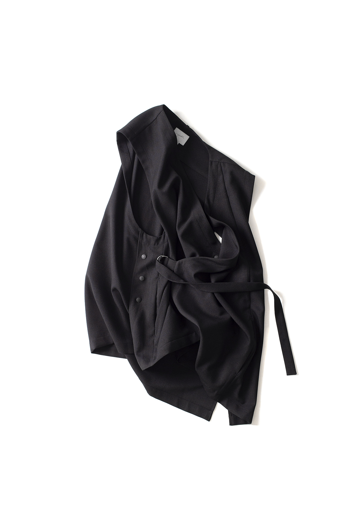 youth : Wrap Pocket Vest (Black)