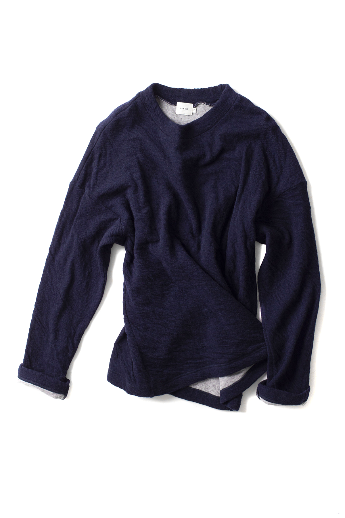 RINEN : Wool Cotton Crewneck 13906 (Navy)
