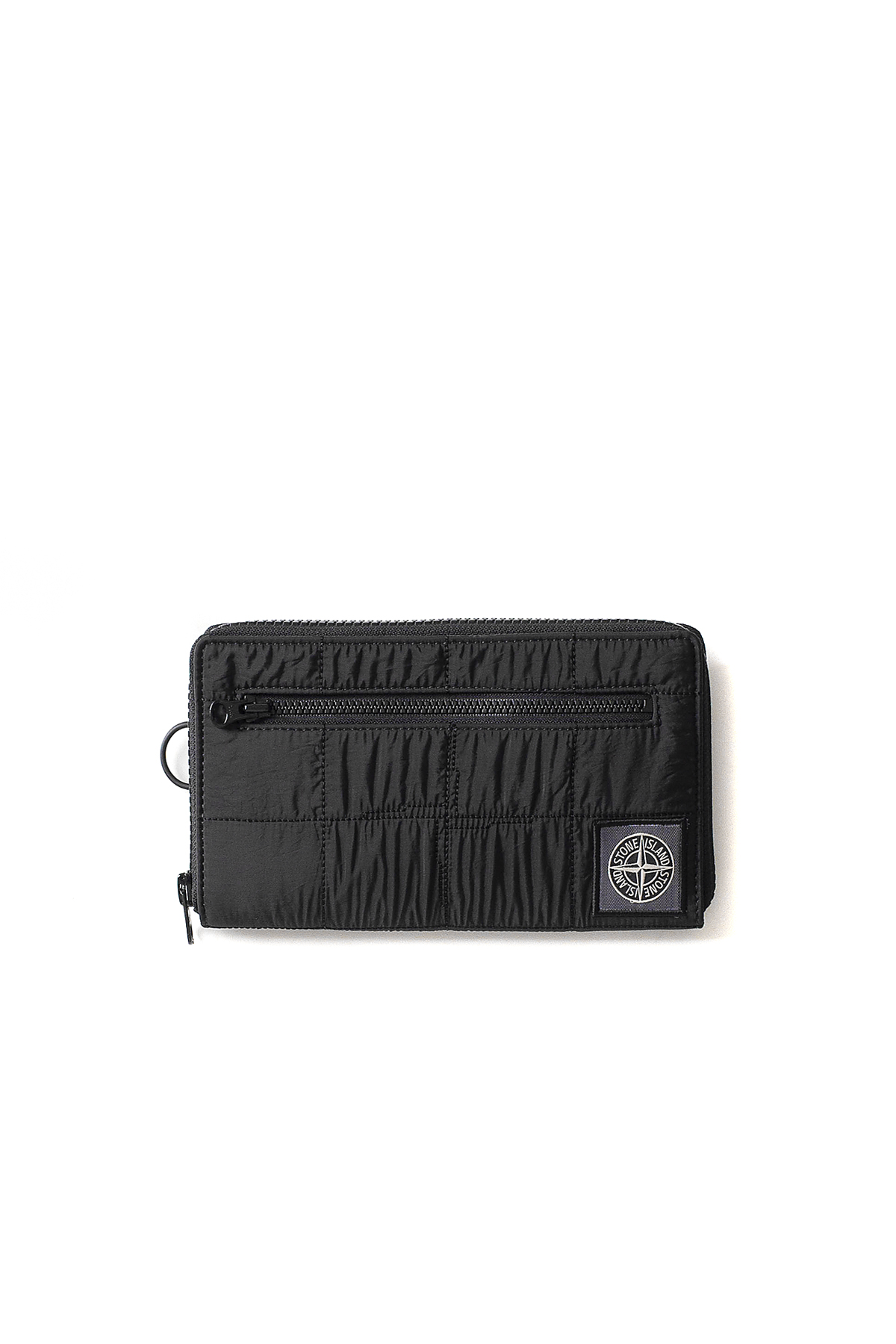 Stone Island : Zipper Wallet (Black)