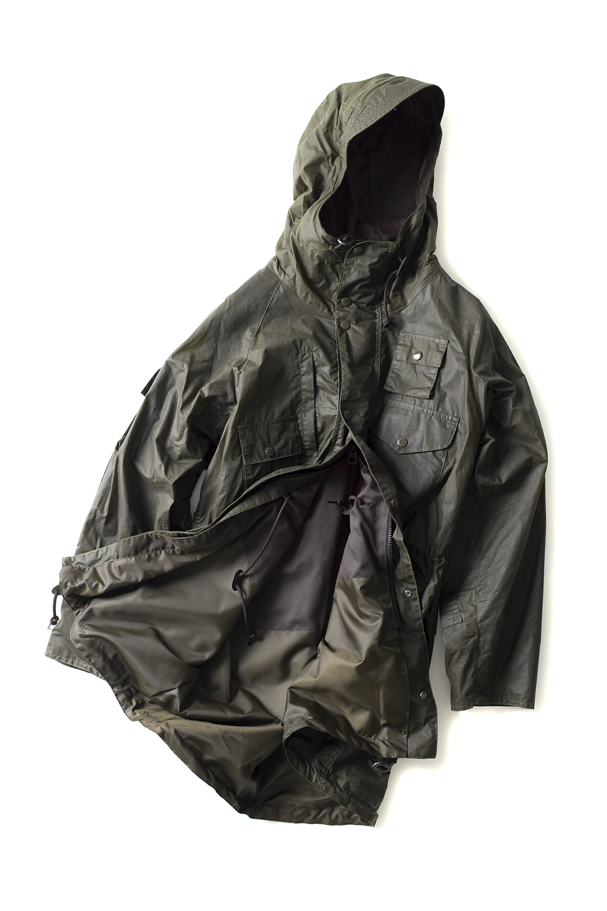 Barbour x Engineered Garments : Zip Parka (Olive)