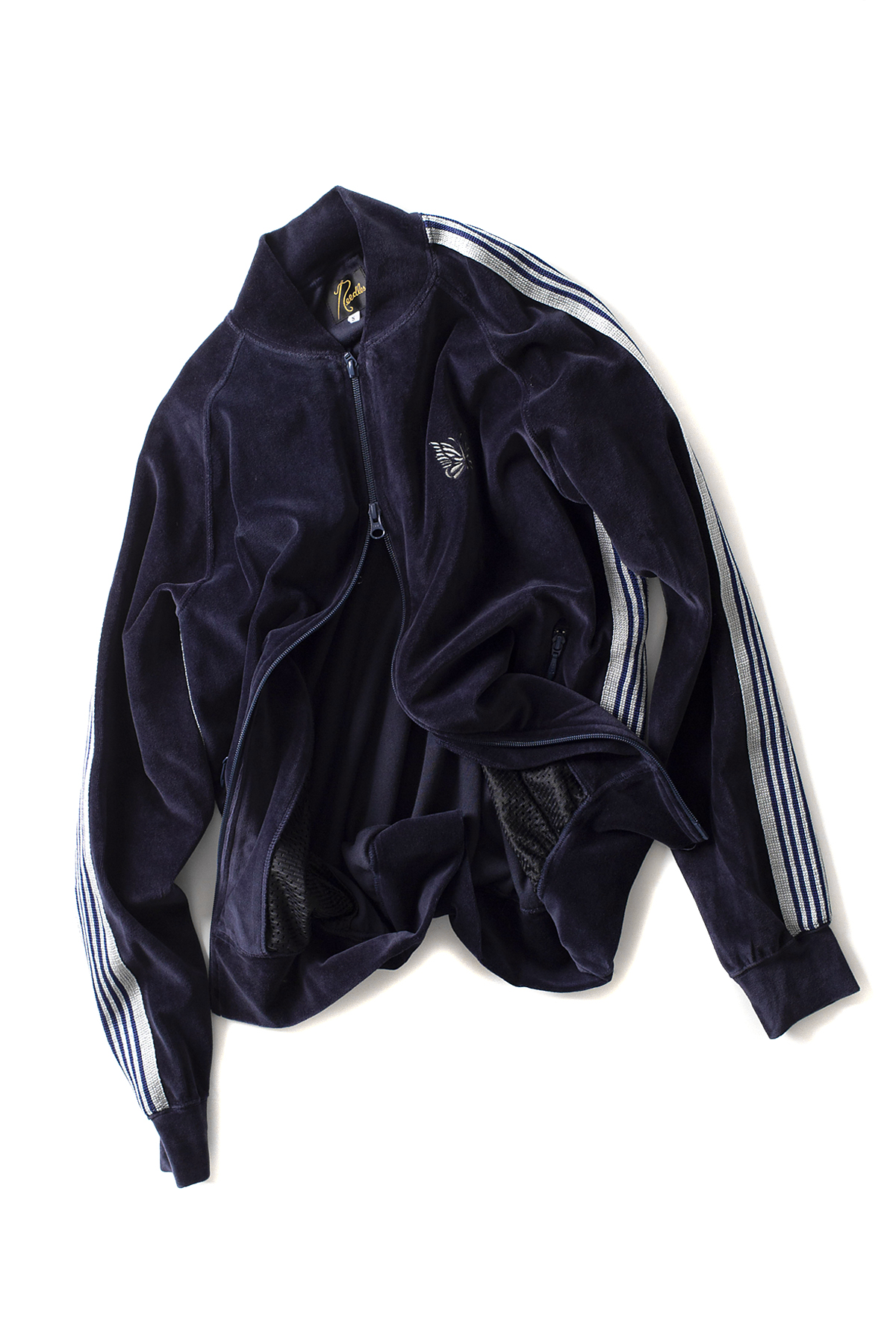 NEEDLES : Velour Rib Collar Track Jacket (Navy)